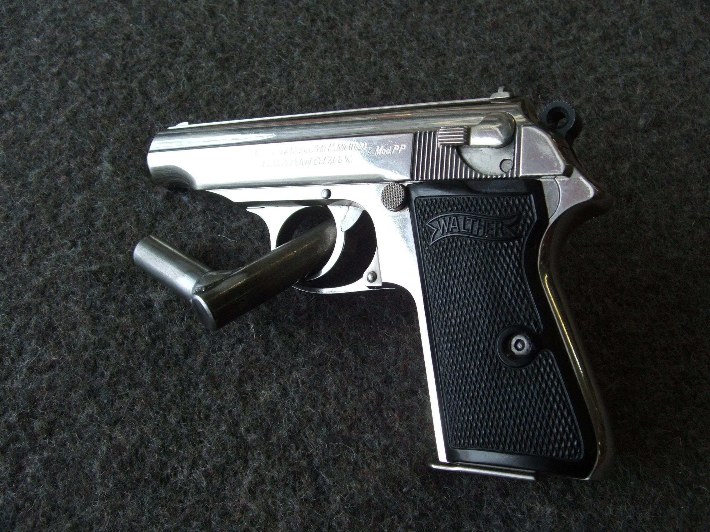 "Walther pp, ""Nickle"" 32acp.  Guns > Pistols > Walther Pistols > Post WWII > PP Series"