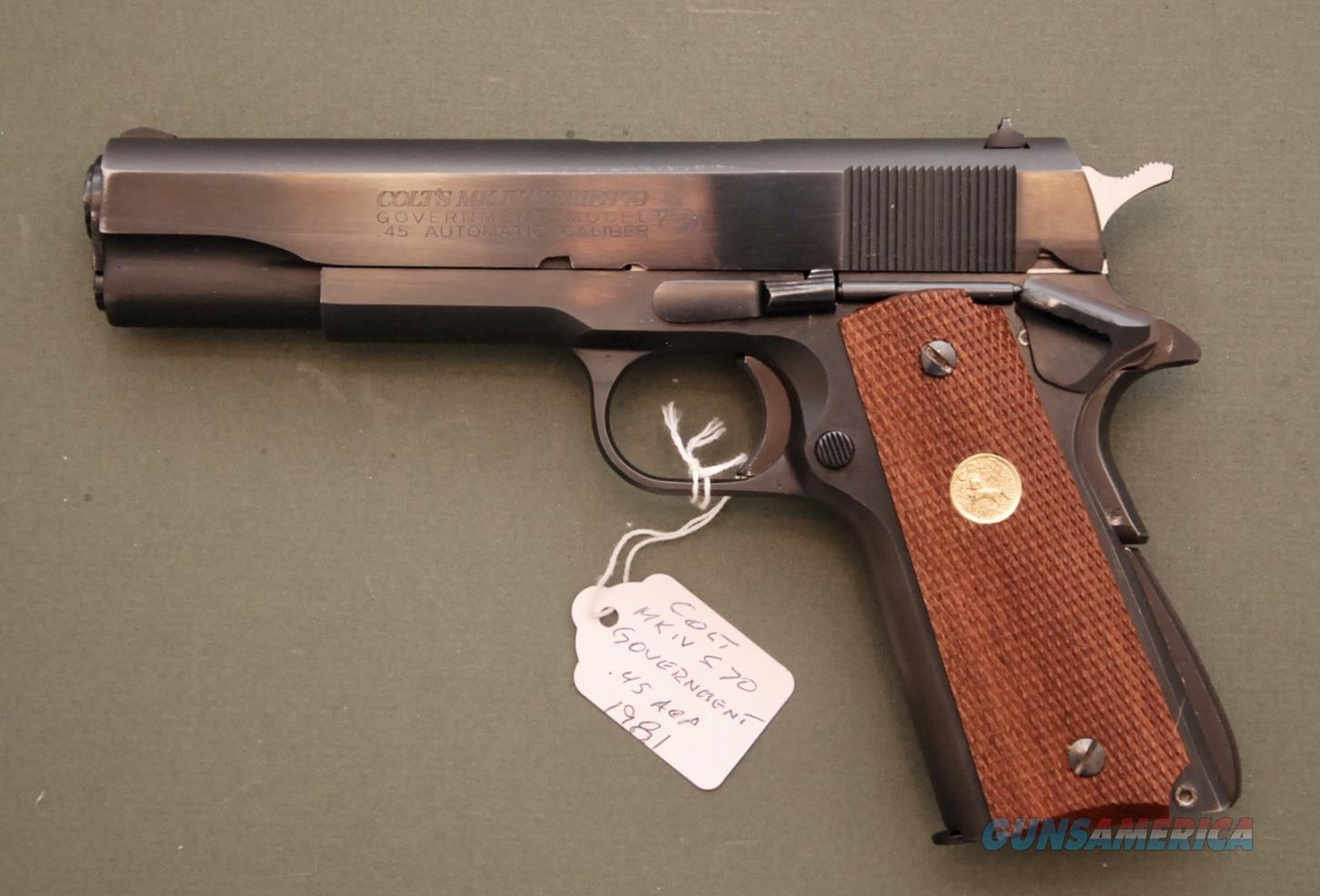 Colt MK IV Series 70 Government Model .45 ACP  Guns > Pistols > Colt Automatic Pistols (1911 & Var)
