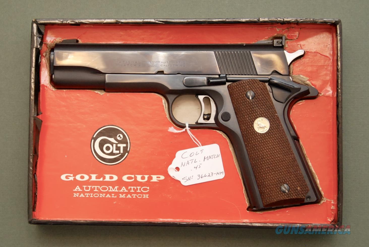Colt Pre-Series 70 National Match in Box .45 ACP  Guns > Pistols > Colt Automatic Pistols (1911 & Var)