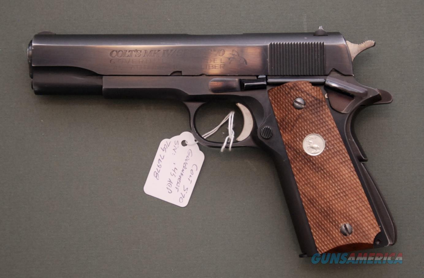 Colt MK IV Series 70 Government .45 ACP  Guns > Pistols > Colt Automatic Pistols (1911 & Var)