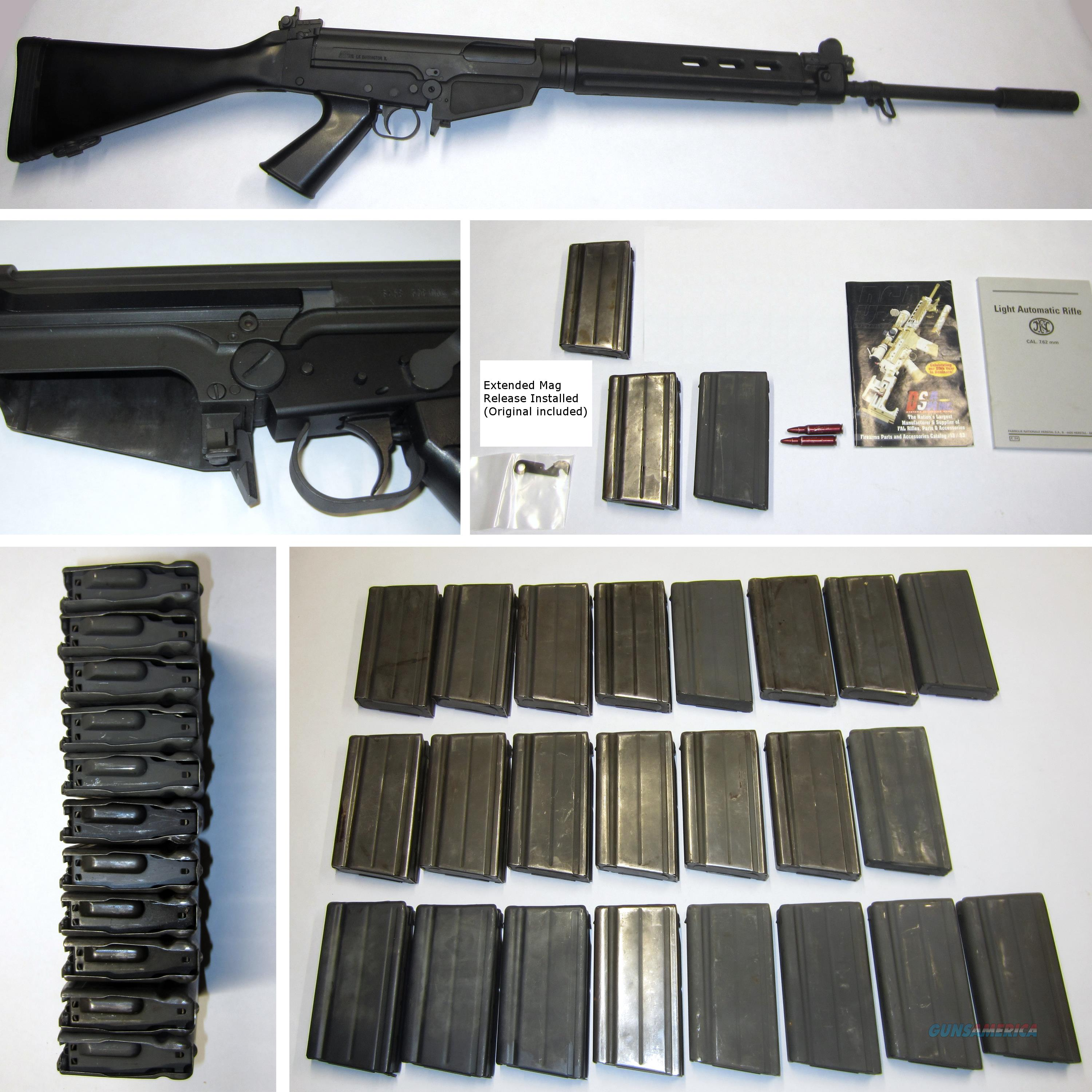 """DSA SA58 Metric FN FAL 21"""" w/Ext Mag Release, Also Have 37 Mags  Guns > Rifles > FNH - Fabrique Nationale (FN) Rifles > Semi-auto > FAL Type"""