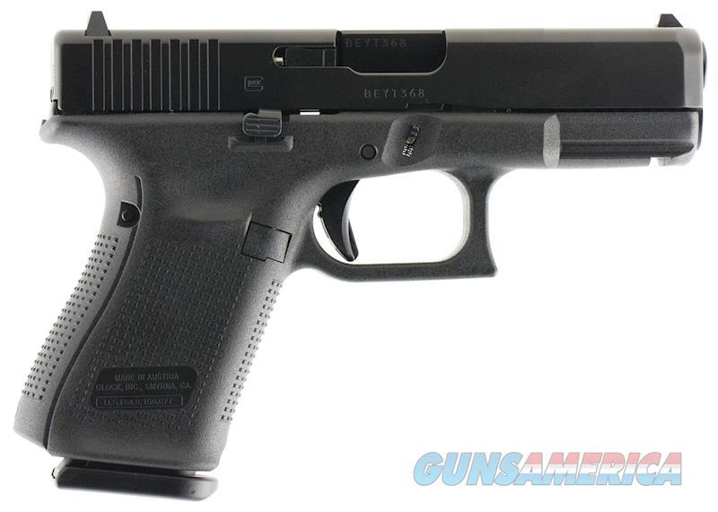 Glock 19 Gen5  9mm 4.02 Inch Barrel Black  Guns