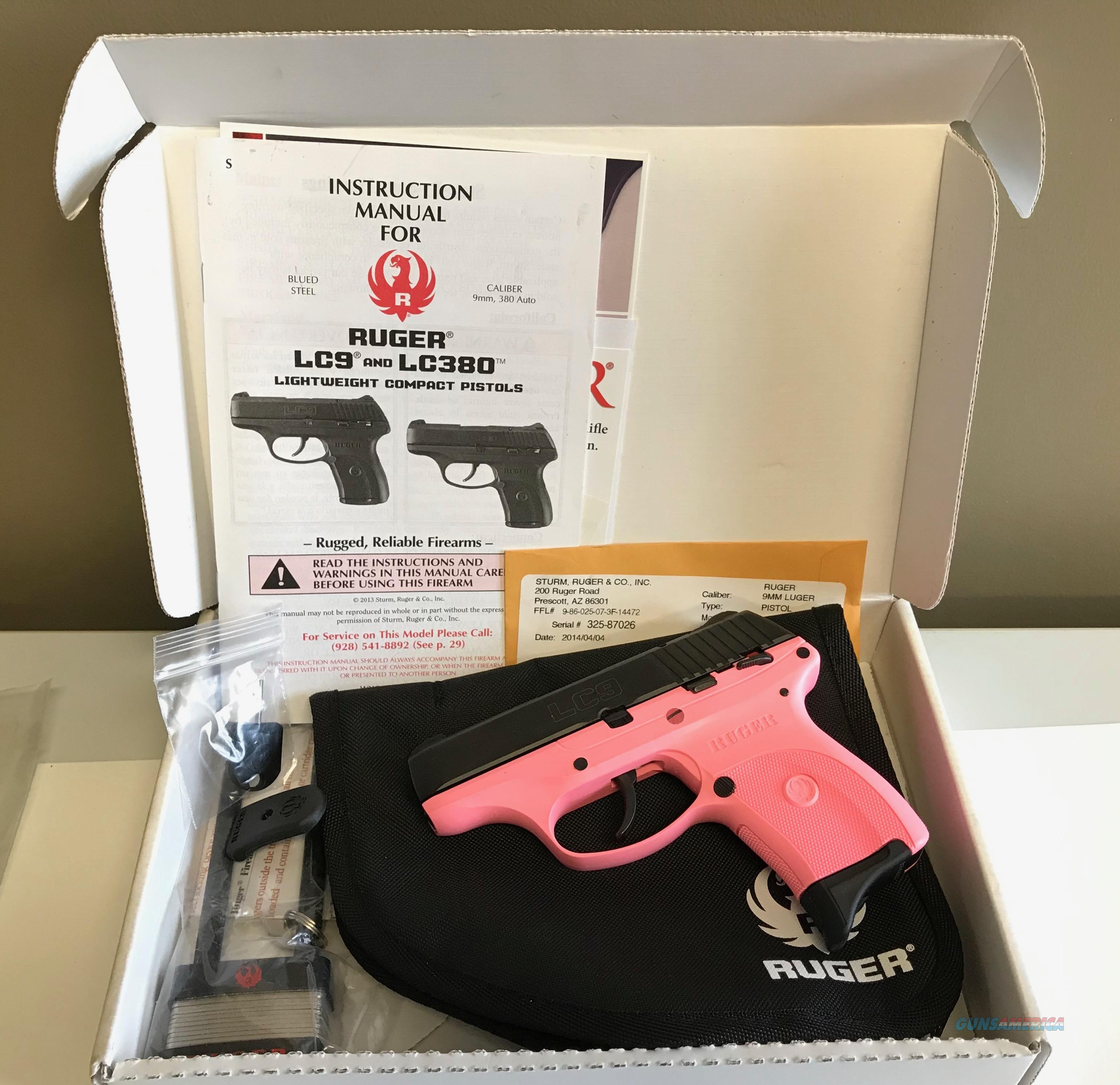 Used Ruger LC9 9mm PINK!  Guns > Pistols > Ruger Semi-Auto Pistols > LC9
