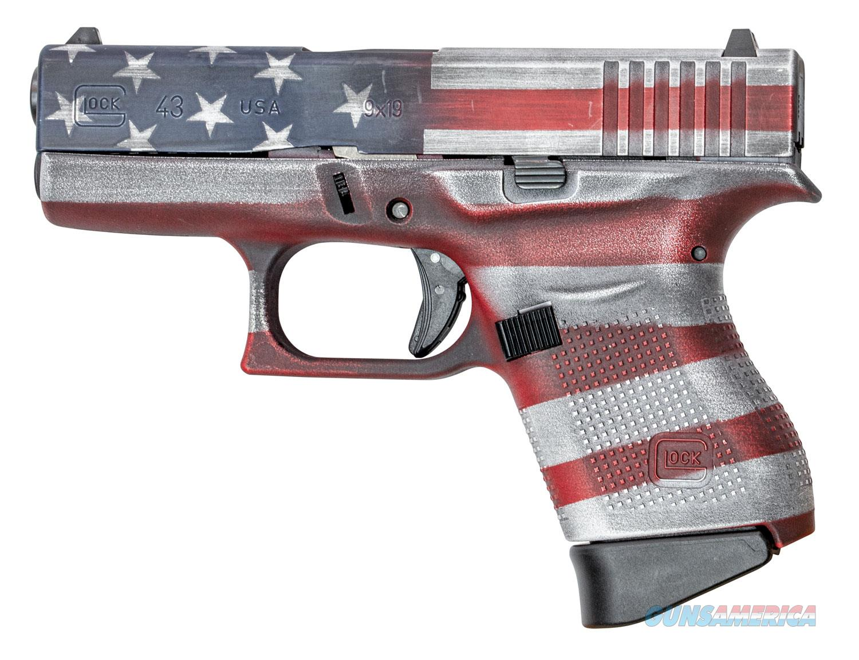 Glock 43 9mm American Flag w/2 Mags!  Guns > Pistols > Glock Pistols > 43/43X