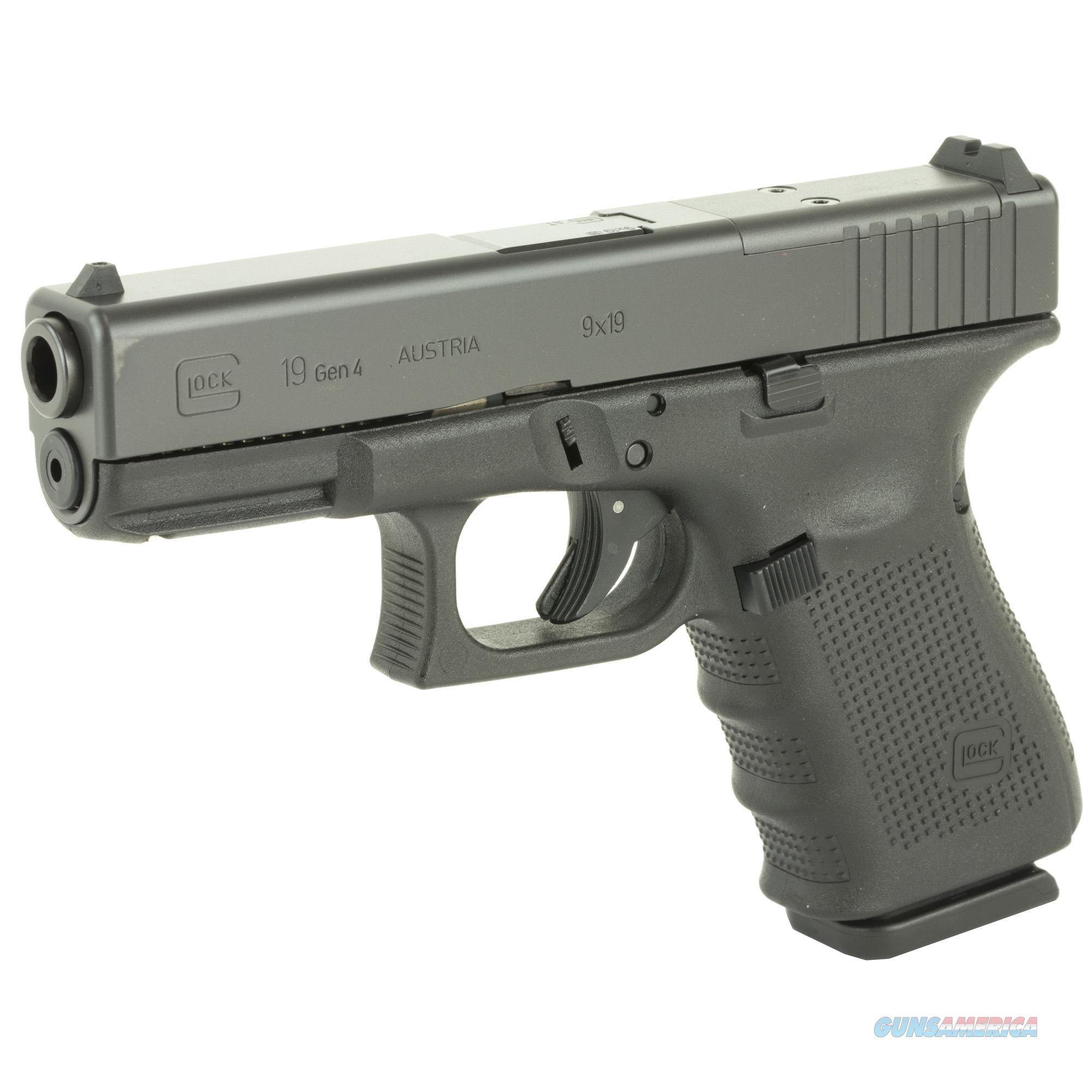 Glock 19 Gen4 9mm MOS ready w/3 Mags!  Guns > Pistols > Glock Pistols > 19/19X