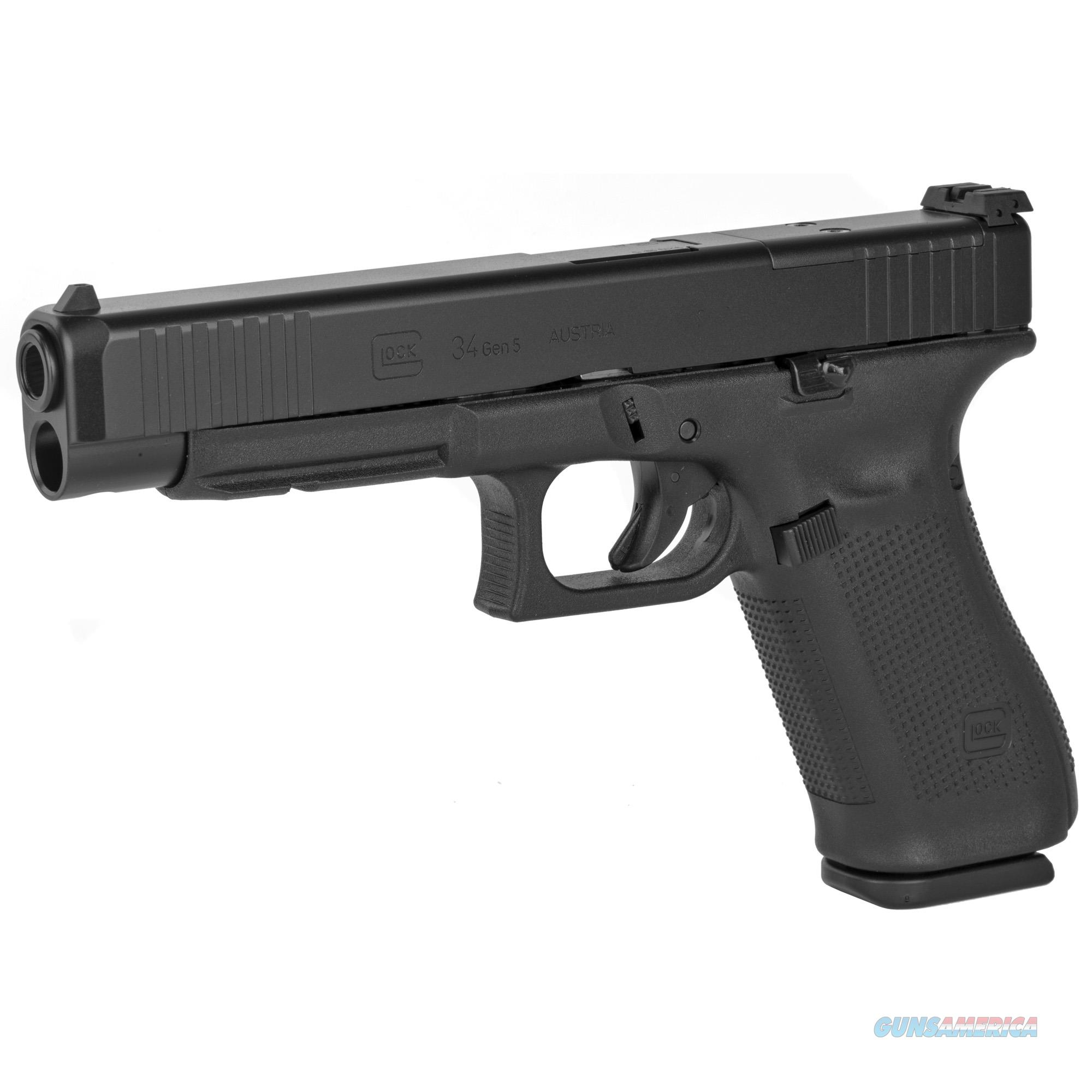 Glock 34 Gen5 9mm MOS Ready w/3 Mags!  Guns > Pistols > Glock Pistols > 34