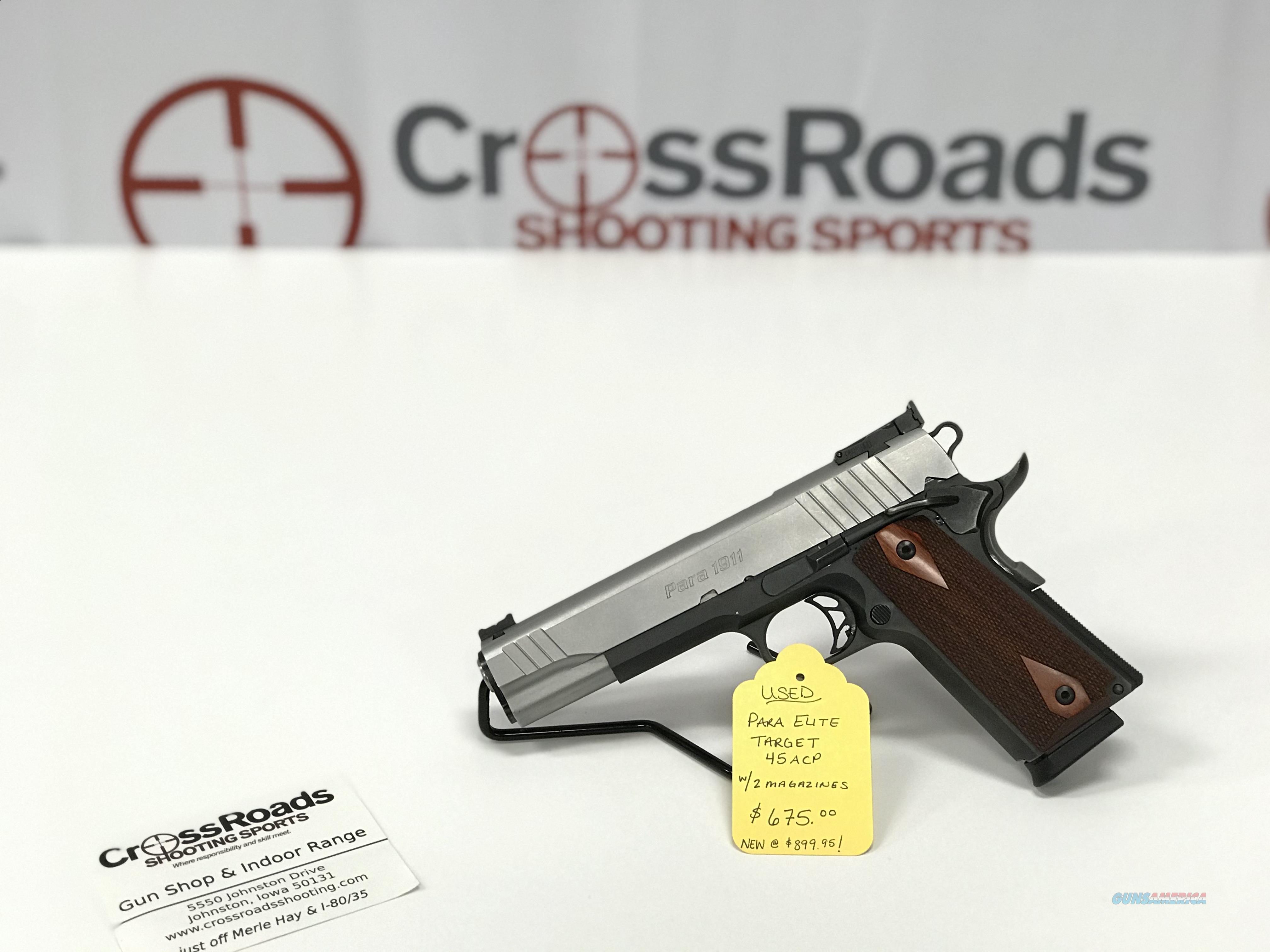 "USED PARA ELITE 45ACP 5"" - 2 8RD Mags  Guns > Pistols > Para Ordnance Pistols"
