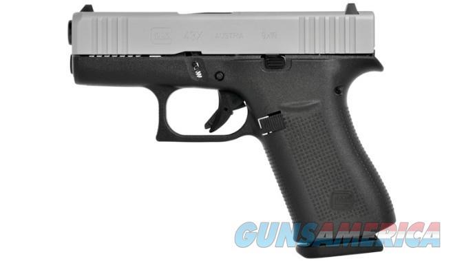Glock 43x -  9mm,  Silver/Black  Standard Sig  Guns > Pistols > Glock Pistols > 43/43X