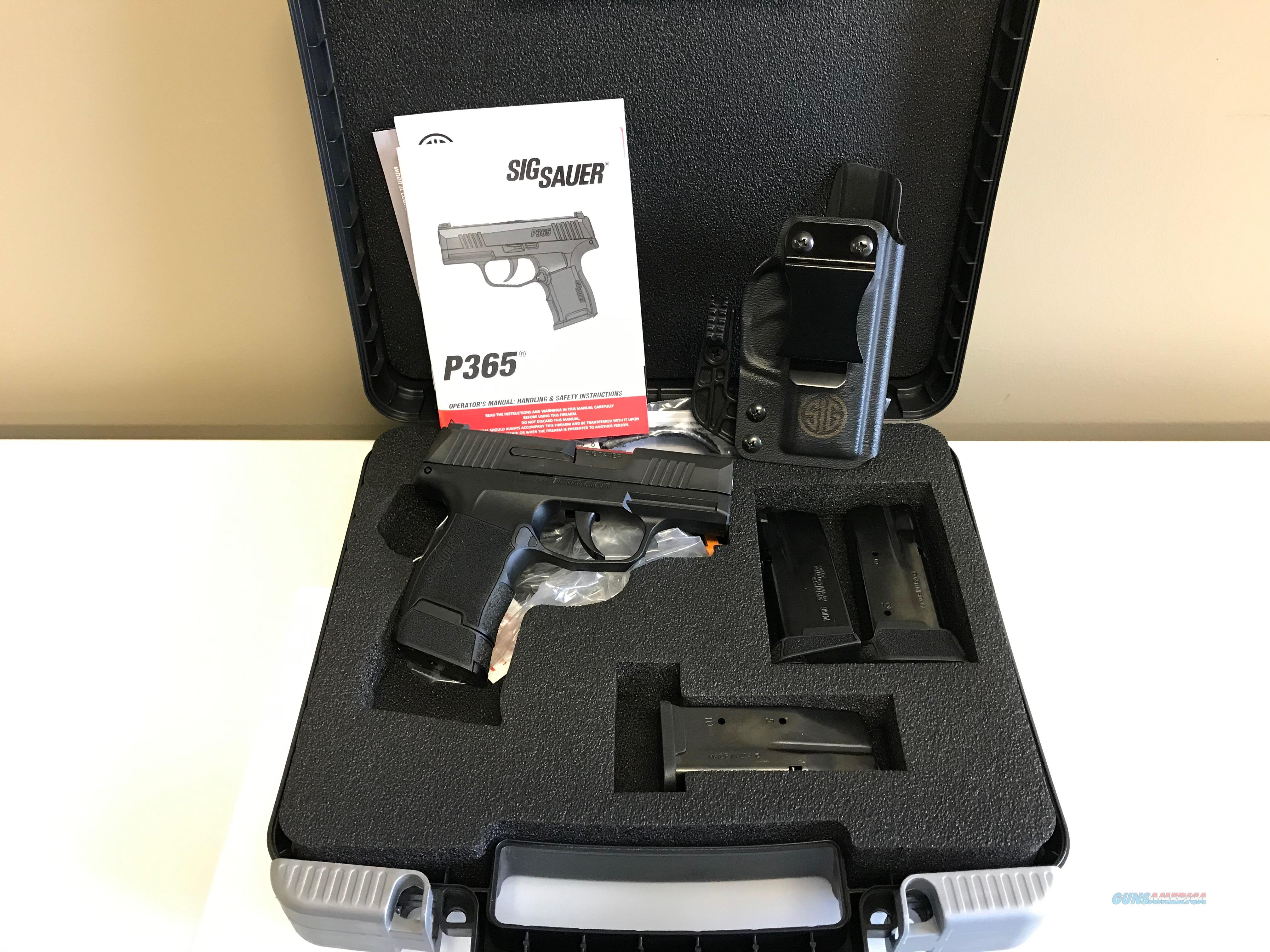 Like New! Used Sig Sauer P365 9mm w/4 Mags and Holster  Guns > Pistols > Sig - Sauer/Sigarms Pistols > P365