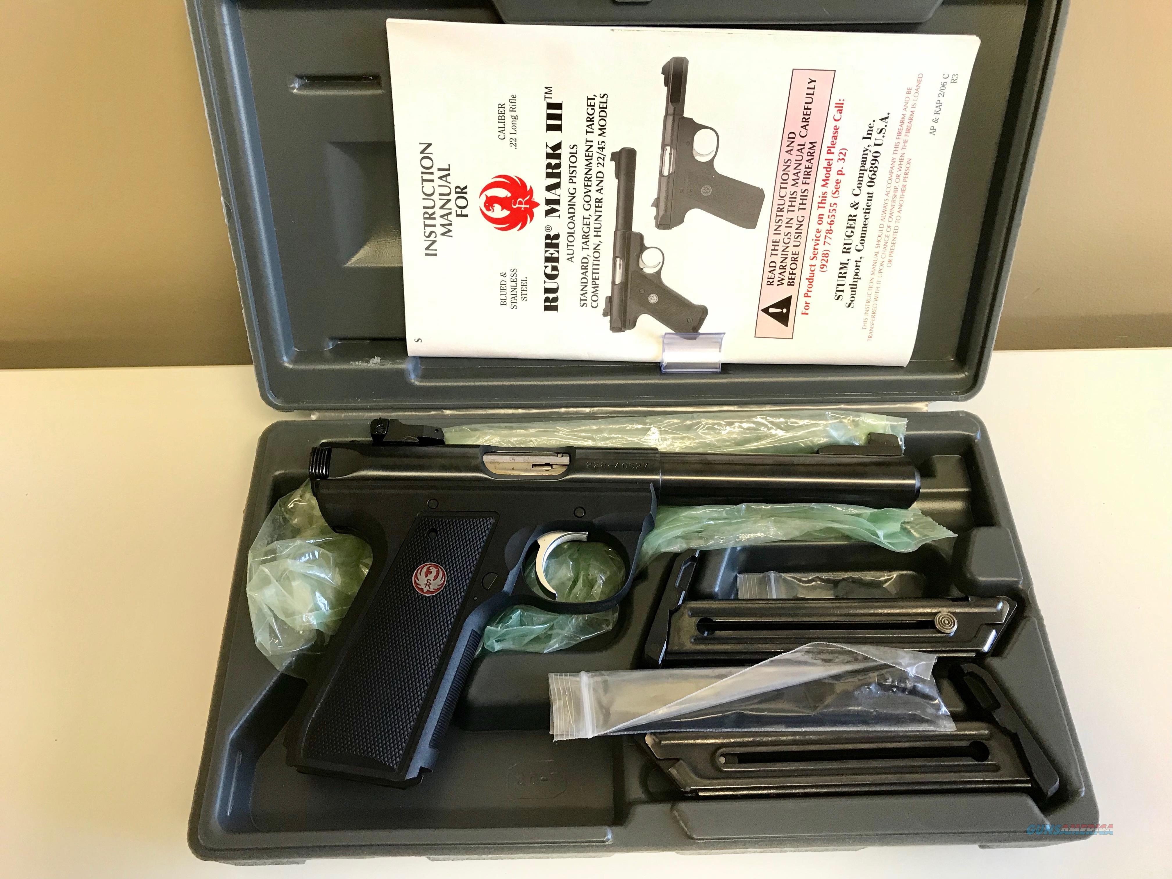 Used Ruger Mark III 22LR  Guns > Pistols > Ruger Semi-Auto Pistols > Mark I/II/III/IV Family