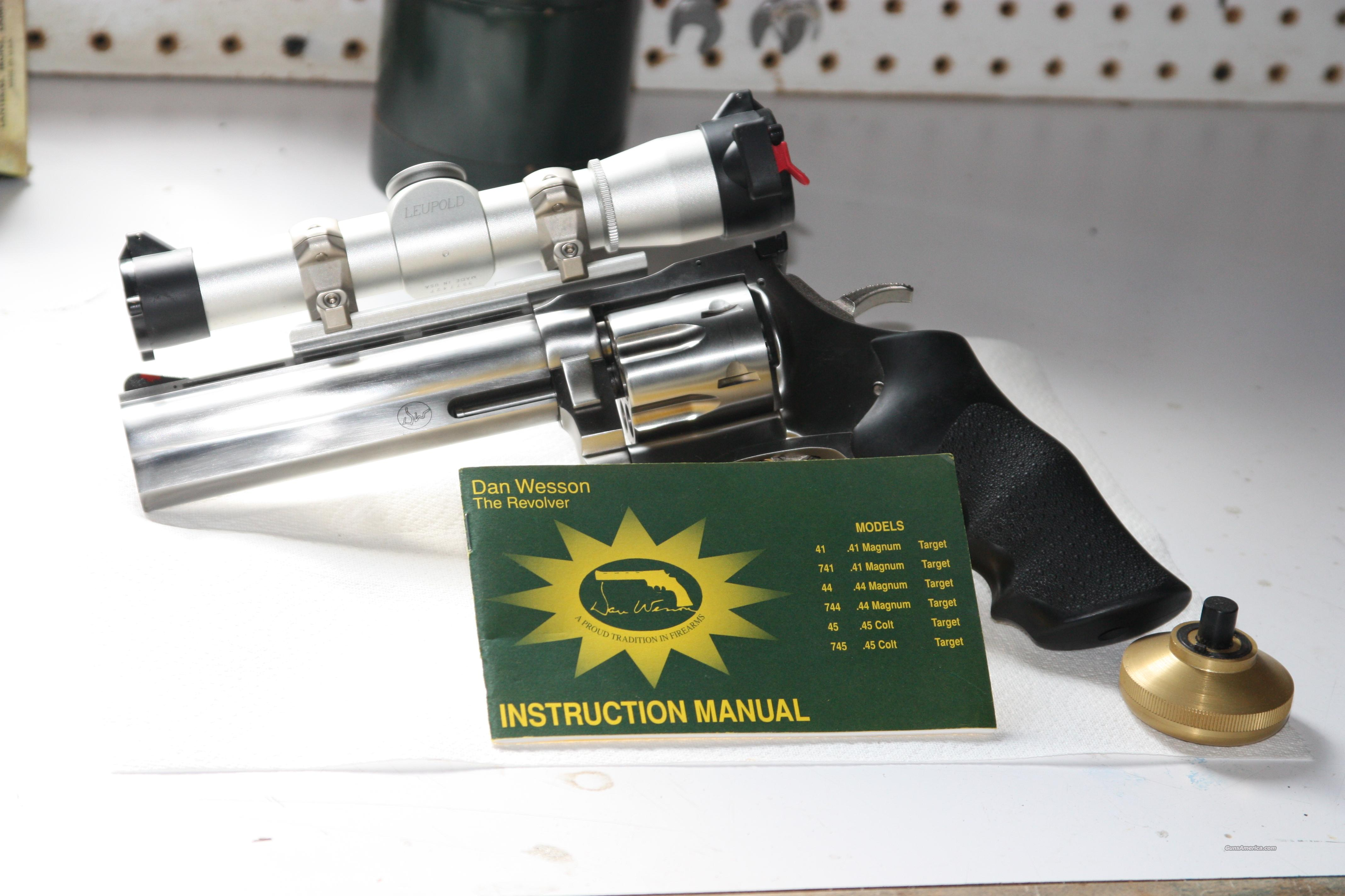 Dan Wesson stainless 744 VH with scope  Guns > Pistols > Dan Wesson Pistols/Revolvers > Revolvers