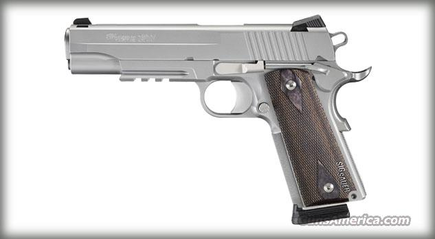 Sig 1911-45acp Stainless W/Rail  Guns > Pistols > Sig - Sauer/Sigarms Pistols > 1911