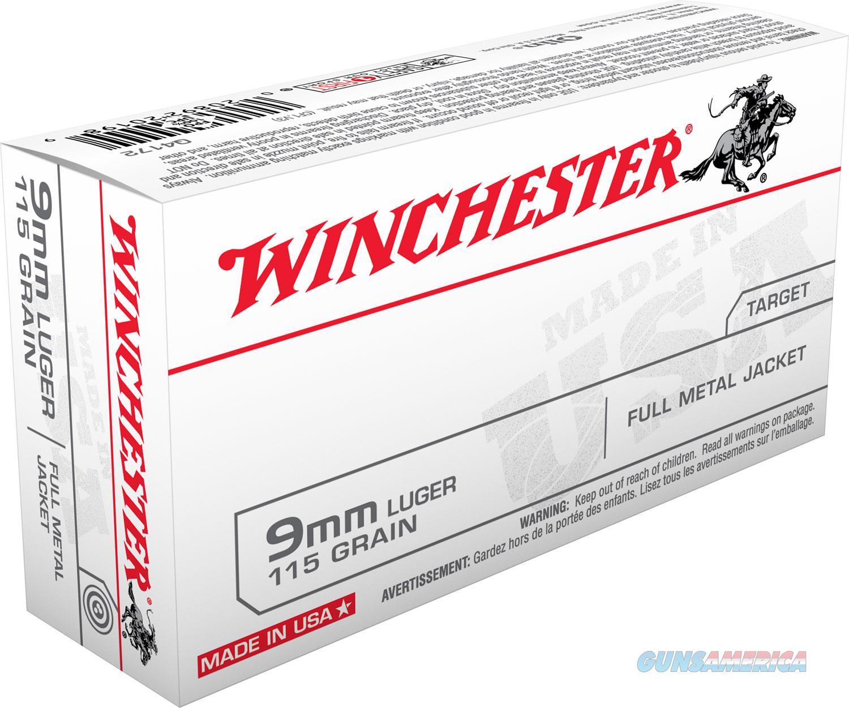 Winchester Ammo USA 9mm Luger 115 gr Full Metal Jacket (FMJ) 50/Box. UPC: 020892201989 ** NO CC FEES **   Non-Guns > Ammunition