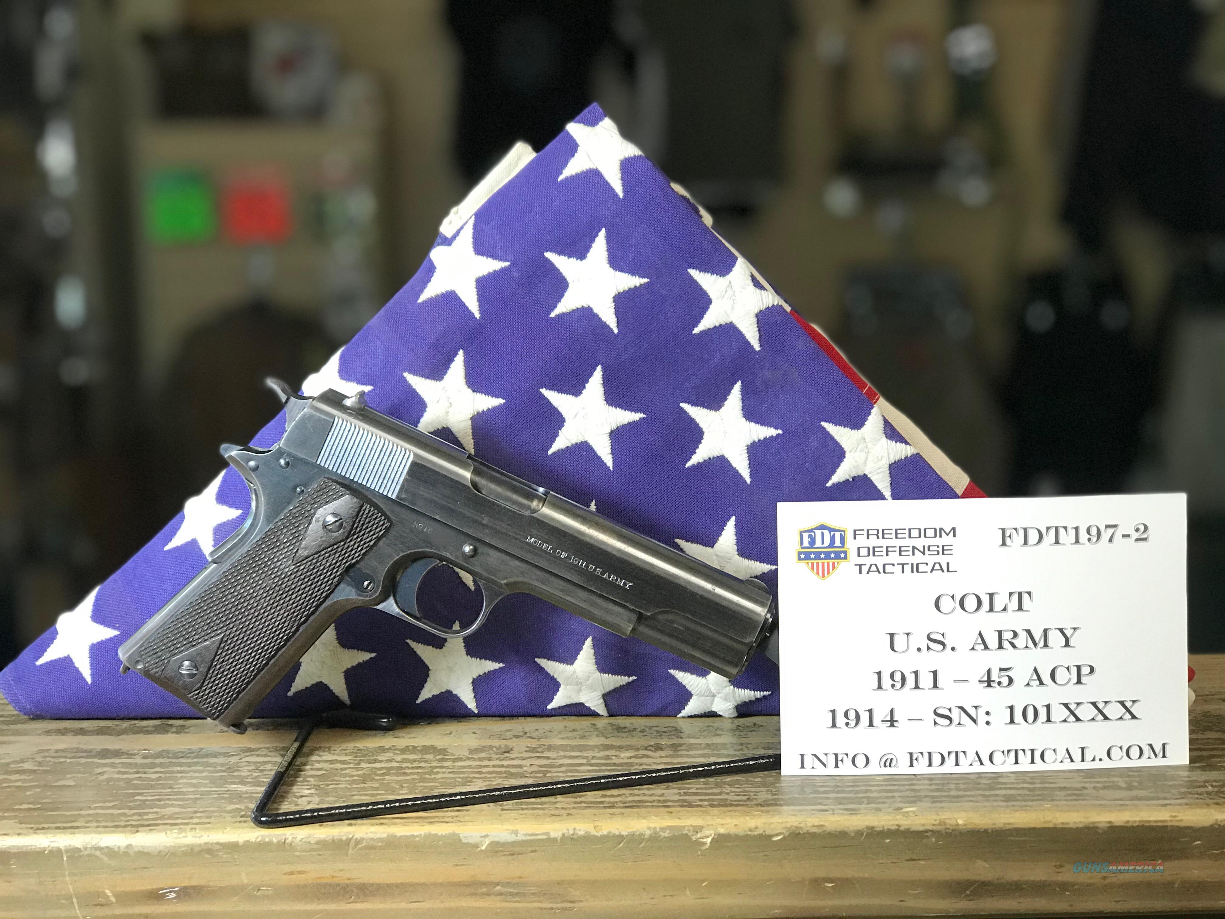 Colt 1911 U.S. Army - 1914 Mfg Date  Guns > Pistols > Colt Automatic Pistols (1911 & Var)