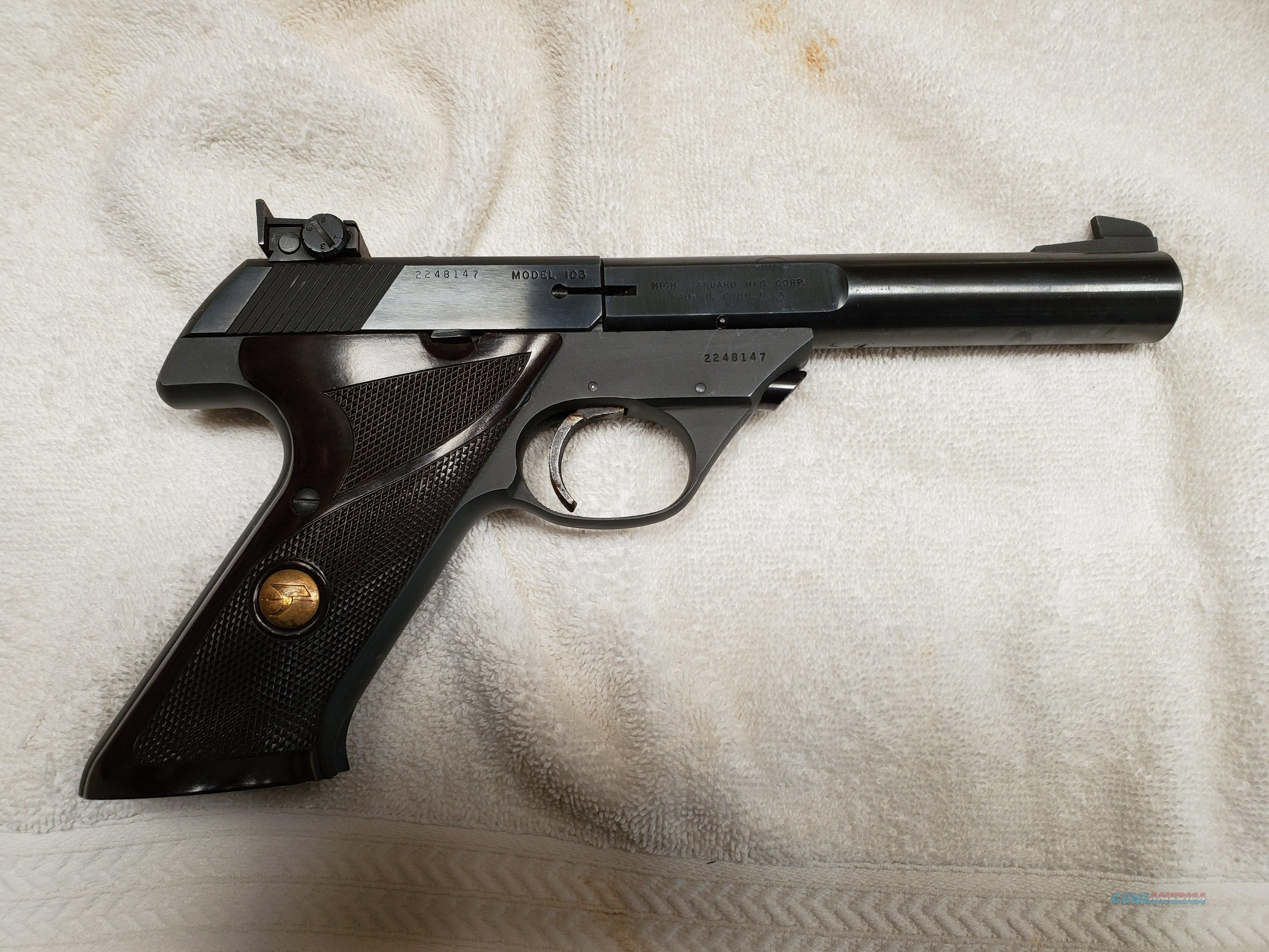 "High Standard Model 103 ""The Sharpshooter"" Semi-Auto Pistol  Guns > Pistols > High Standard Pistols"