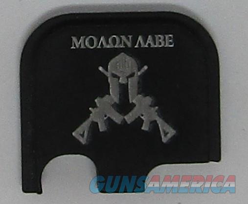 Laser Engraved Glock 43 Slide Plate Spartan Crossed Rifles  Non-Guns > Gun Parts > Misc > Pistols