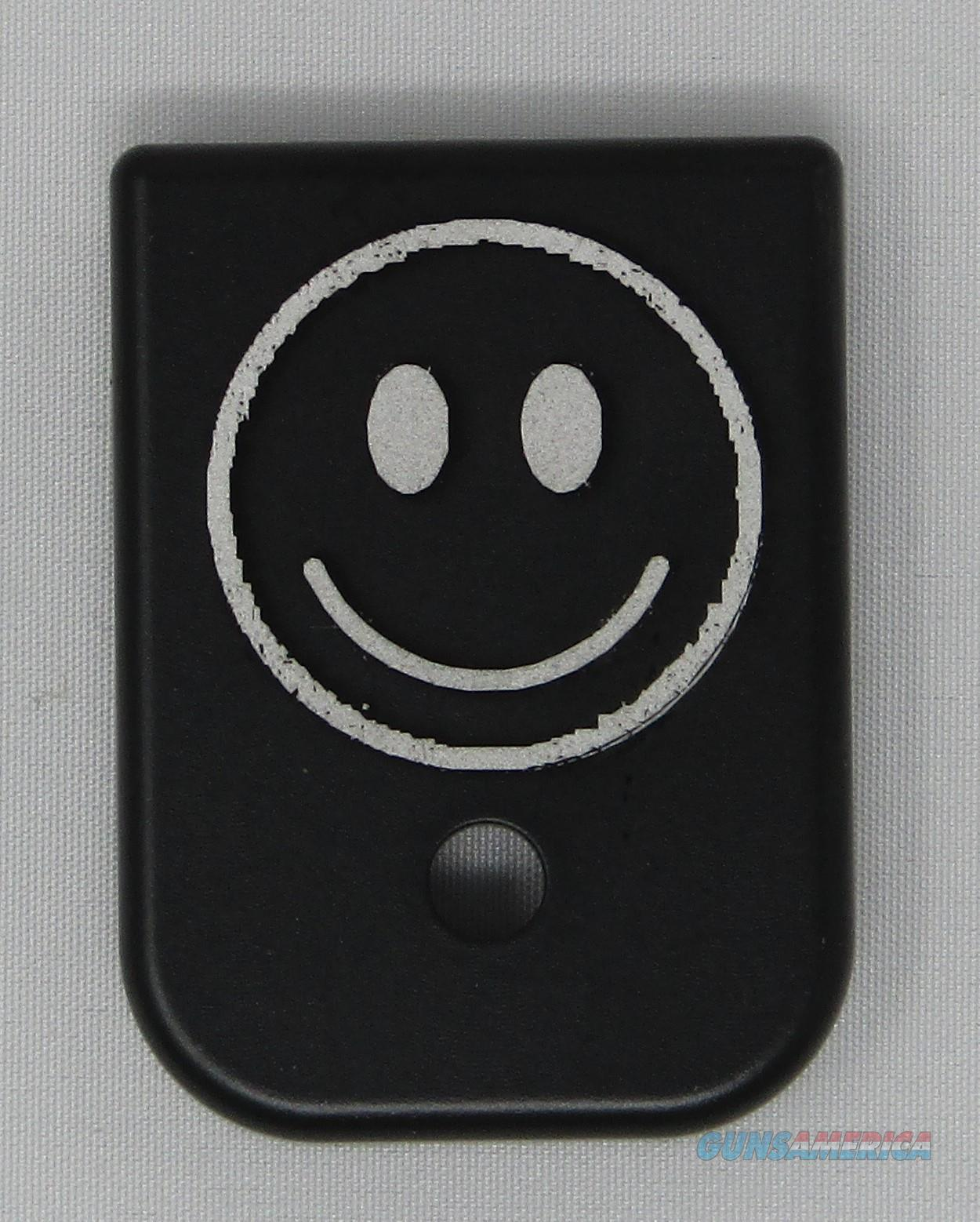 Laser Engraved Glock Mag Base Plate Smiley Face  Non-Guns > Gun Parts > Misc > Pistols