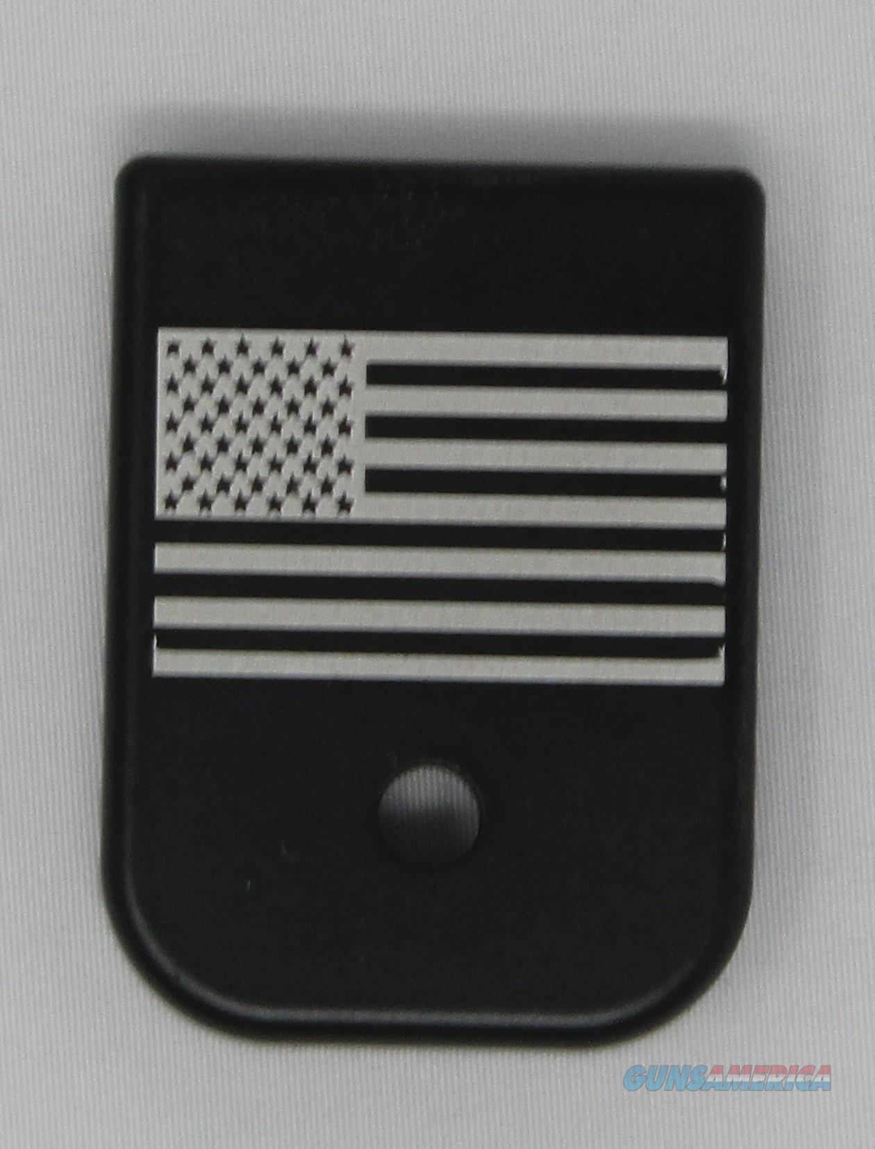 Laser Engraved Glock Mag Base Plate American Flag  Non-Guns > Gun Parts > Misc > Pistols