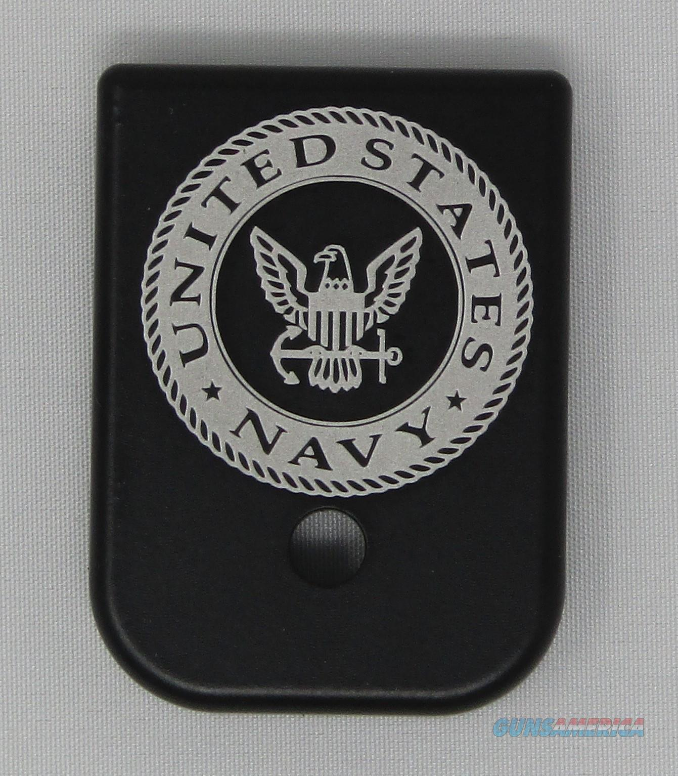 Laser Engraved Glock Mag Base Plate Navy  Non-Guns > Gun Parts > Misc > Pistols
