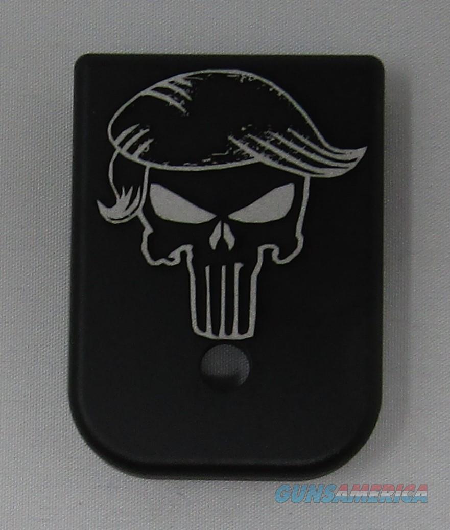 Laser Engraved Glock Magazine Base Punisher Trump  Non-Guns > Gun Parts > Misc > Pistols