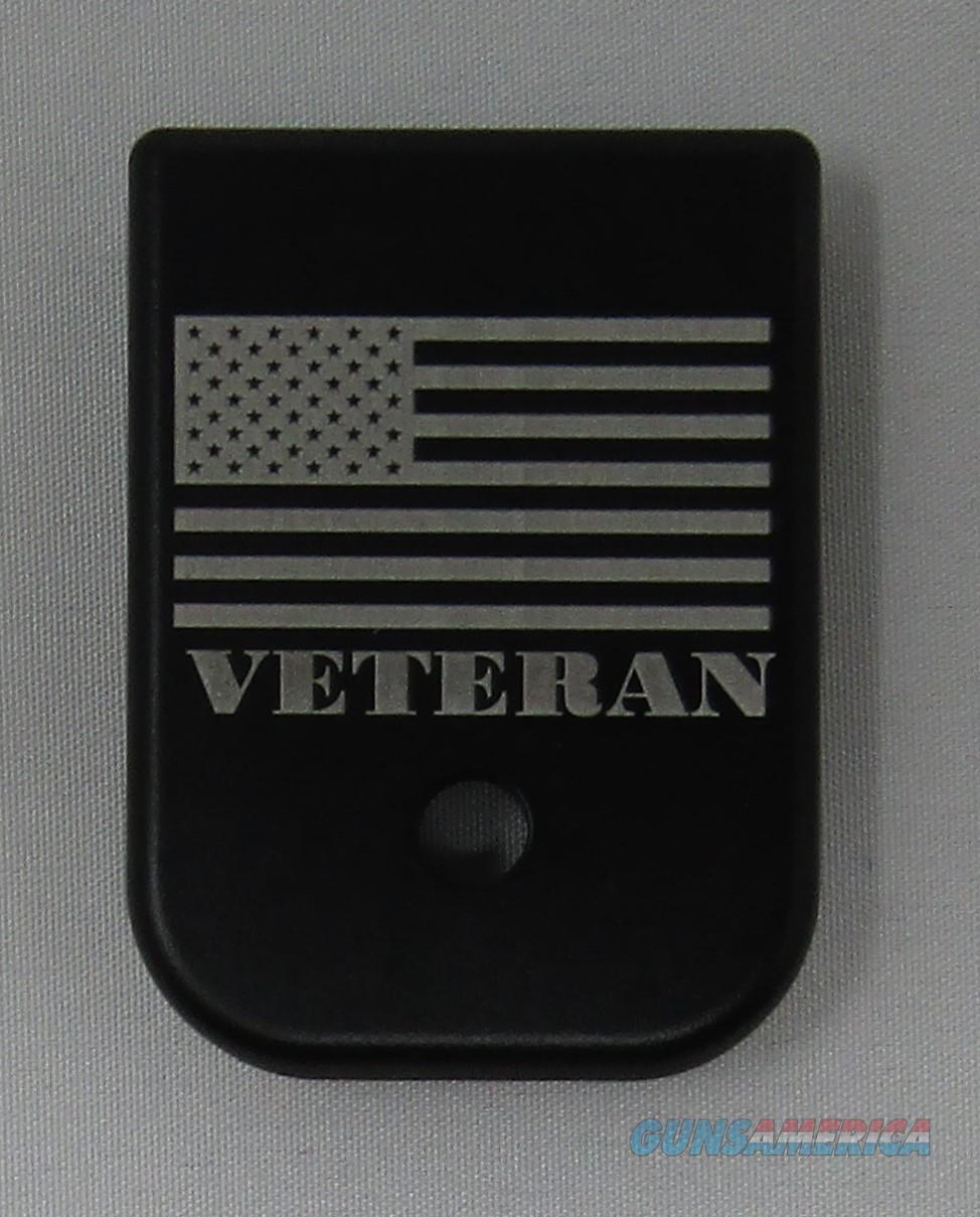 Laser Engraved Glock Magazine Base Veteran American Flag  Non-Guns > Gun Parts > Misc > Pistols