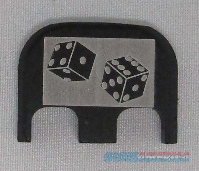 Laser Engraved Glock Full Size Backplate Dice  Non-Guns > Gun Parts > Misc > Pistols
