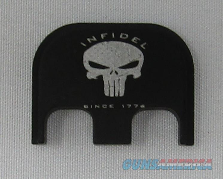 Laser Engraved Glock Full Size Back Plate Infidel Punisher  Non-Guns > Gun Parts > Misc > Pistols