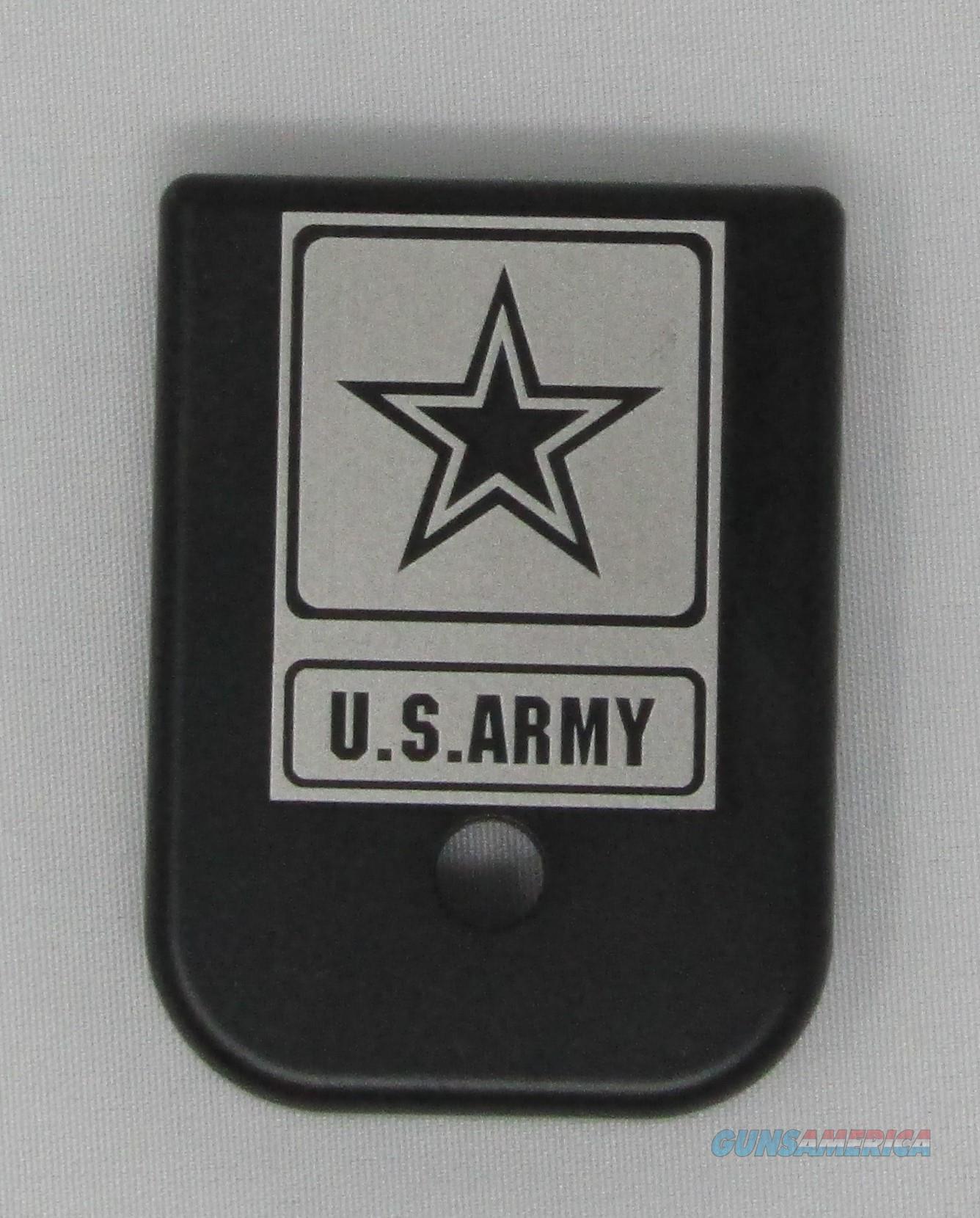 Laser Engraved Glock Mag Base Plate Army  Non-Guns > Gun Parts > Misc > Pistols