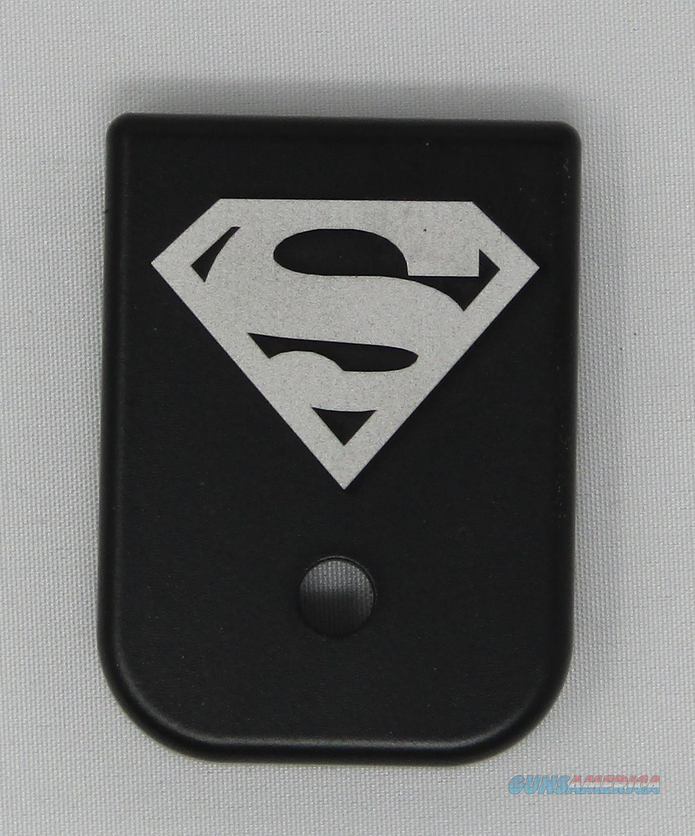 Laser Engraved Glock Mag Base Plate Superman  Non-Guns > Gun Parts > Misc > Pistols