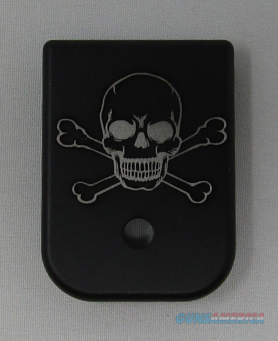 Laser Engraved Glock Magazine Base Skull and Cross bones  Non-Guns > Gun Parts > Misc > Pistols