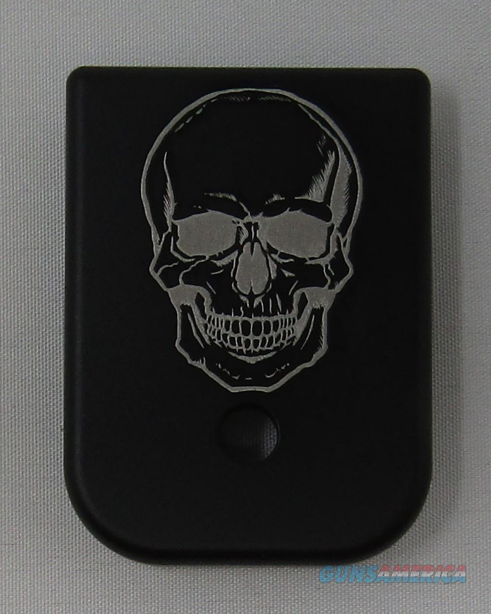 Laser Engraved Glock Magazine Base Skull  Non-Guns > Gun Parts > Misc > Pistols