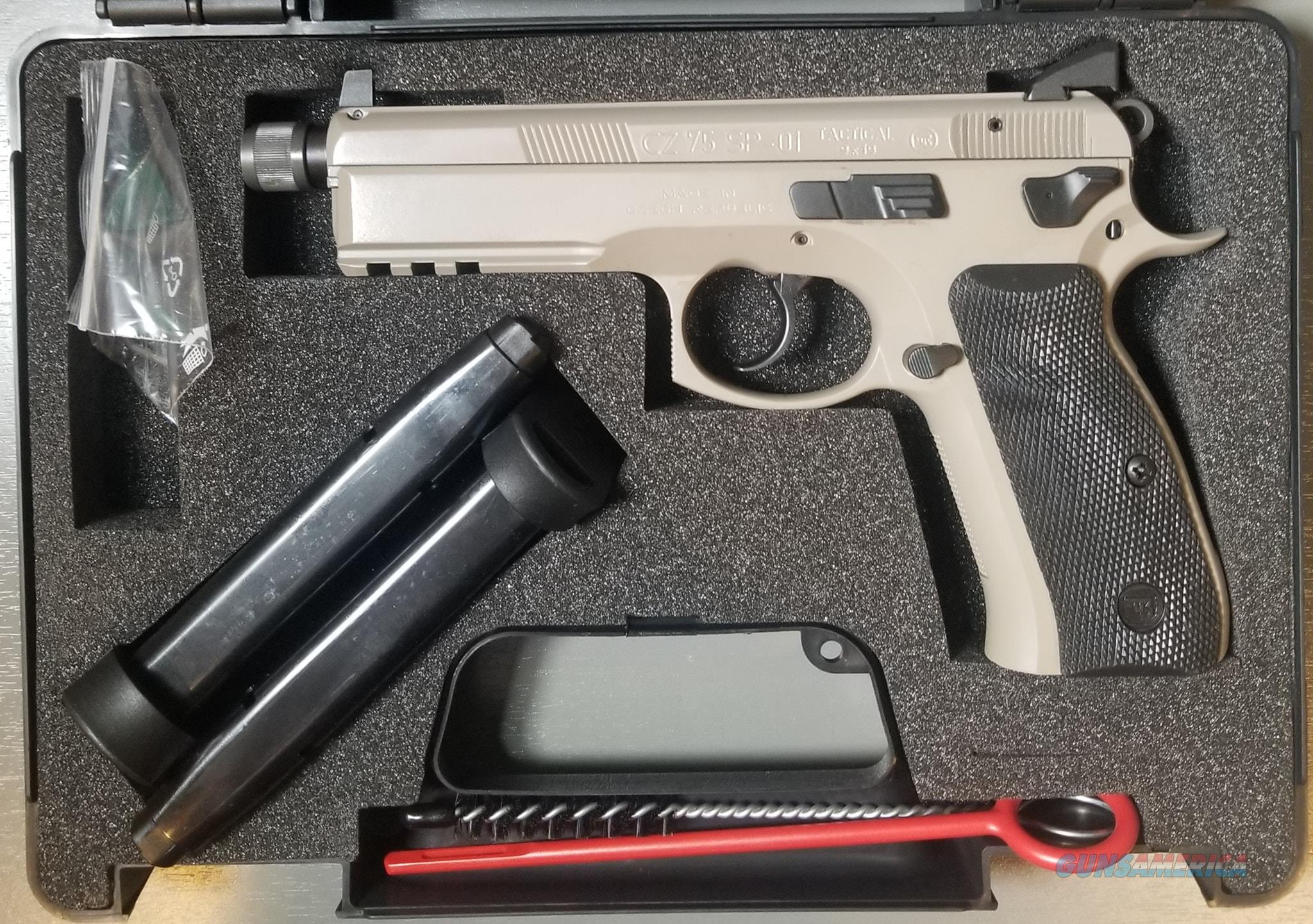 CZ 75 SP-01 Tactical Urban Grey Suppressor-Ready  Guns > Pistols > CZ Pistols