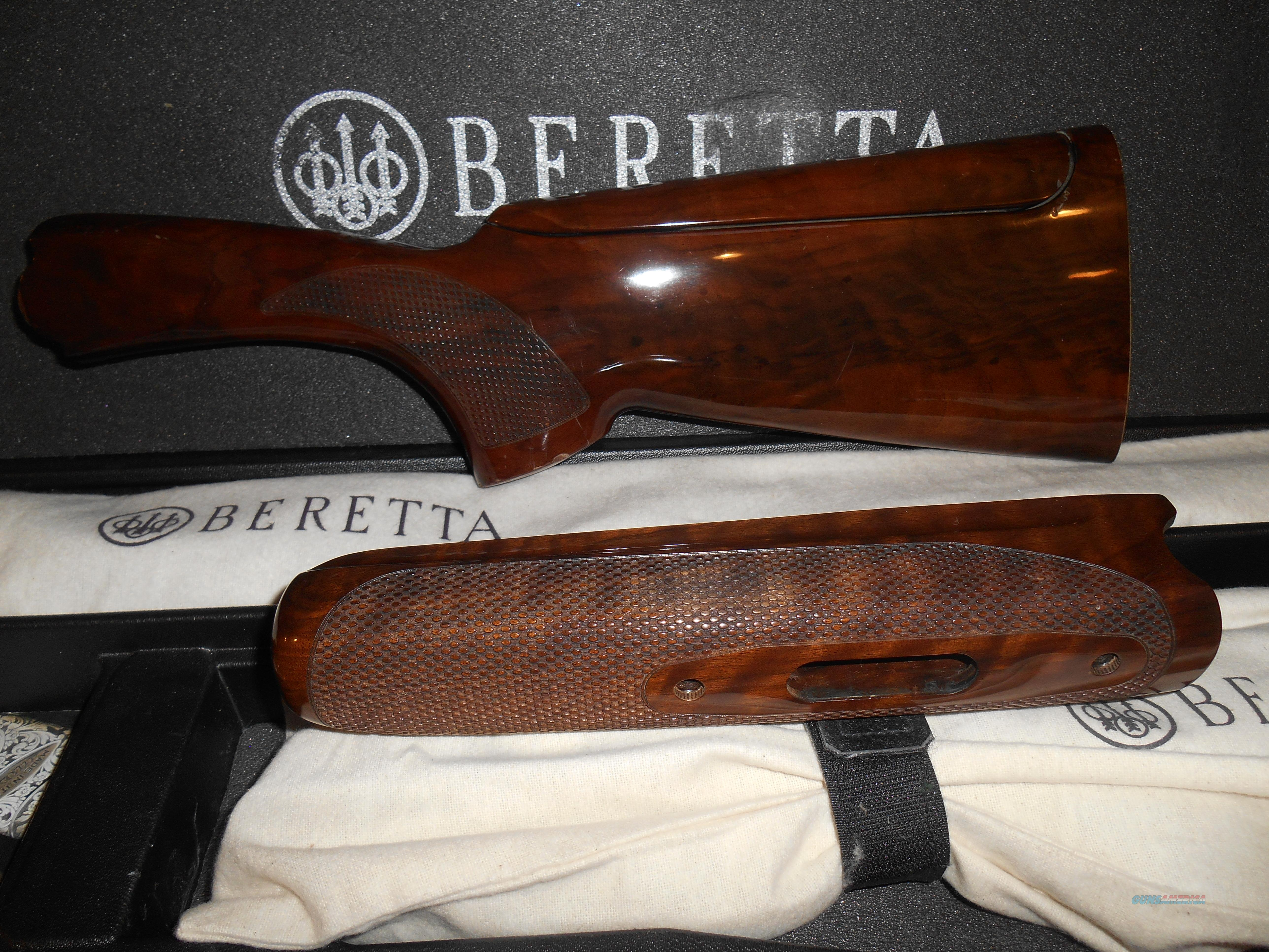 USED Beretta 682 Gold Stock & forearm with adjustable Comb  Non-Guns > Gun Parts > Stocks > Wooden