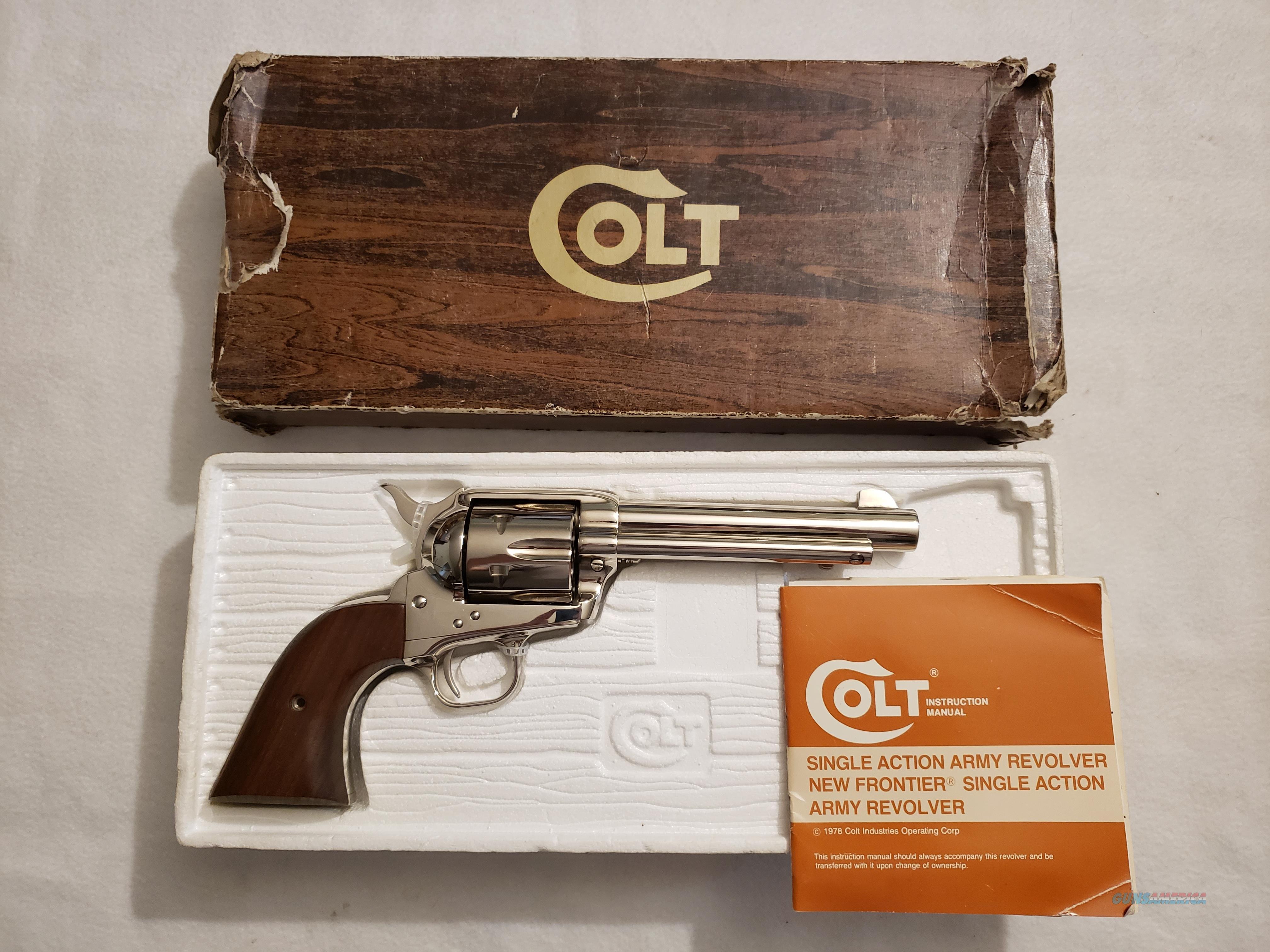Colt SAA 5.5in 44spl Nickle early 3rd gen  Guns > Pistols > Colt Single Action Revolvers - 3rd Gen.