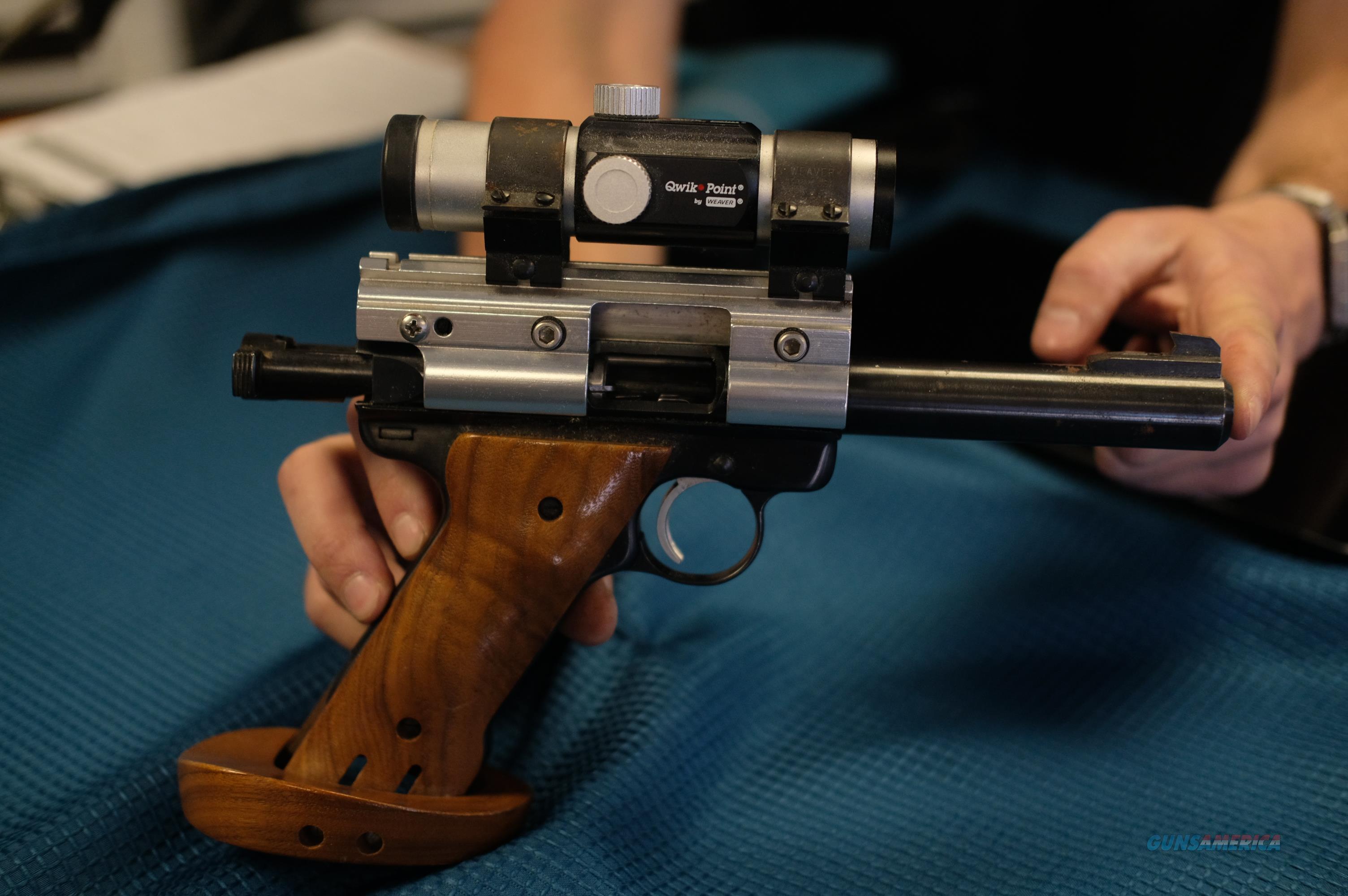 RUGER 22 BULL BARREL TARGET PISTOL  Guns > Pistols > Ruger Semi-Auto Pistols > 22/45