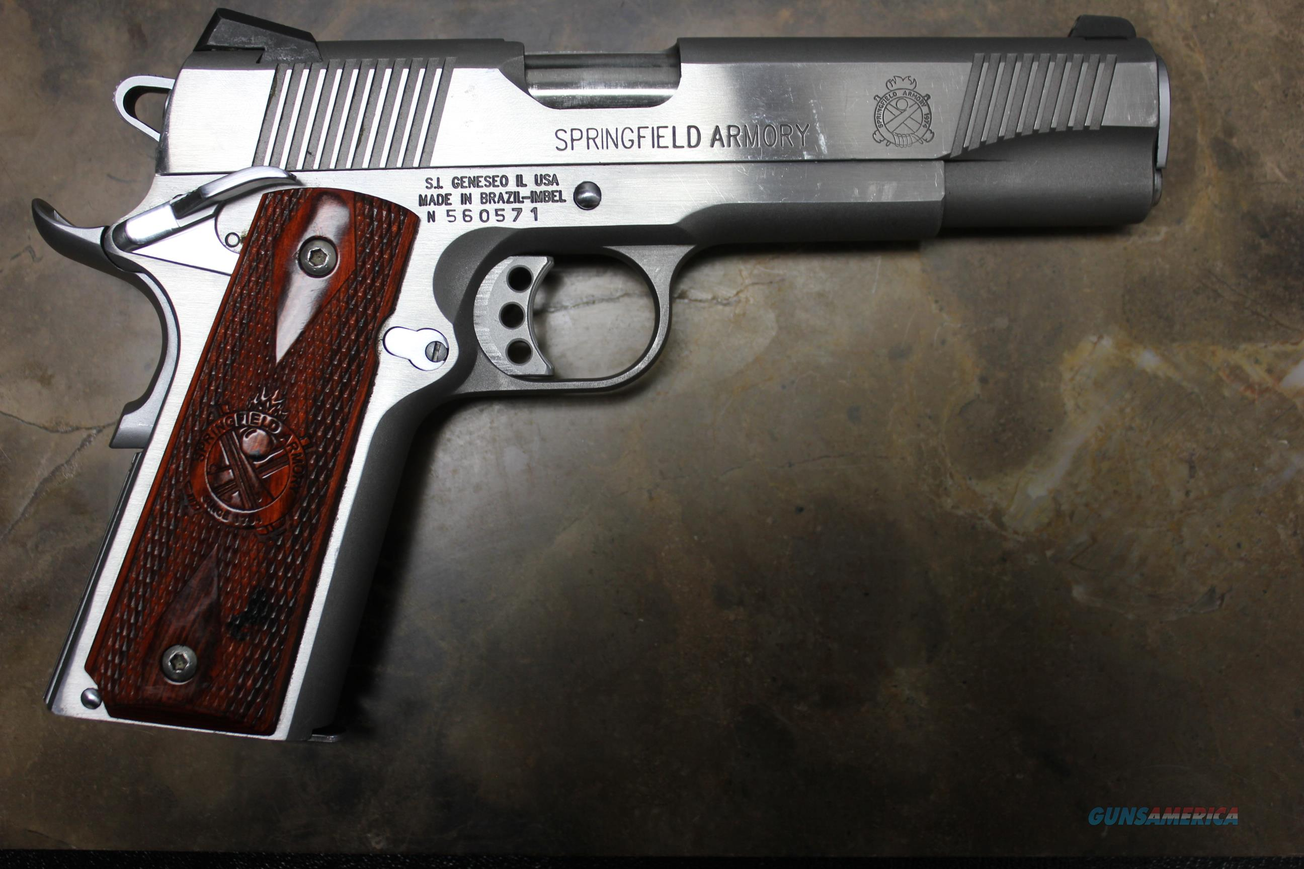 Springfield Armory 1911-A1 Stainless .45ACP 1x Mag  Guns > Pistols > Springfield Armory Pistols > 1911 Type