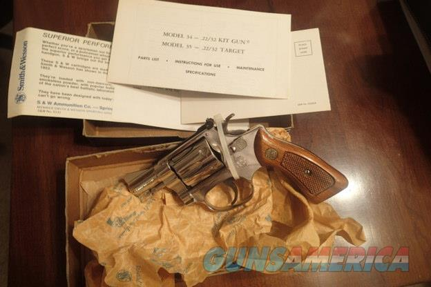 """Smith & Wesson 34 Nickel 2""""BBL Pinned New in Box 1980/81  Guns > Pistols > Smith & Wesson Revolvers > Small Frame ( J )"""