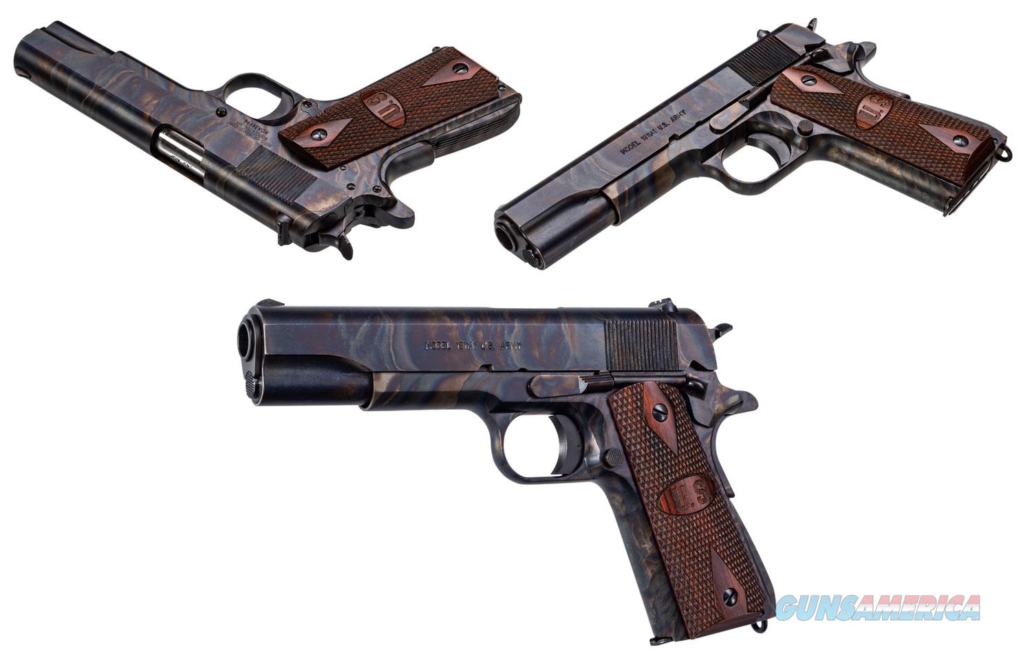FREE 10 MONTH LAYAWAY Thompson 1911 Color Case Hardened 45ACP Checkered Wood with US logo  Guns > Pistols > Thompson Pistols