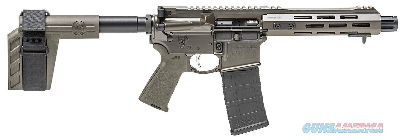 "Springfield Armory Saint AR Pistol Semi-Automatic 223 Remington/5.56 NATO 7.5"" 30+1 OD Green Anodized/Black Melonite  Guns > Pistols > Springfield Armory Pistols > SAINT Pistol"