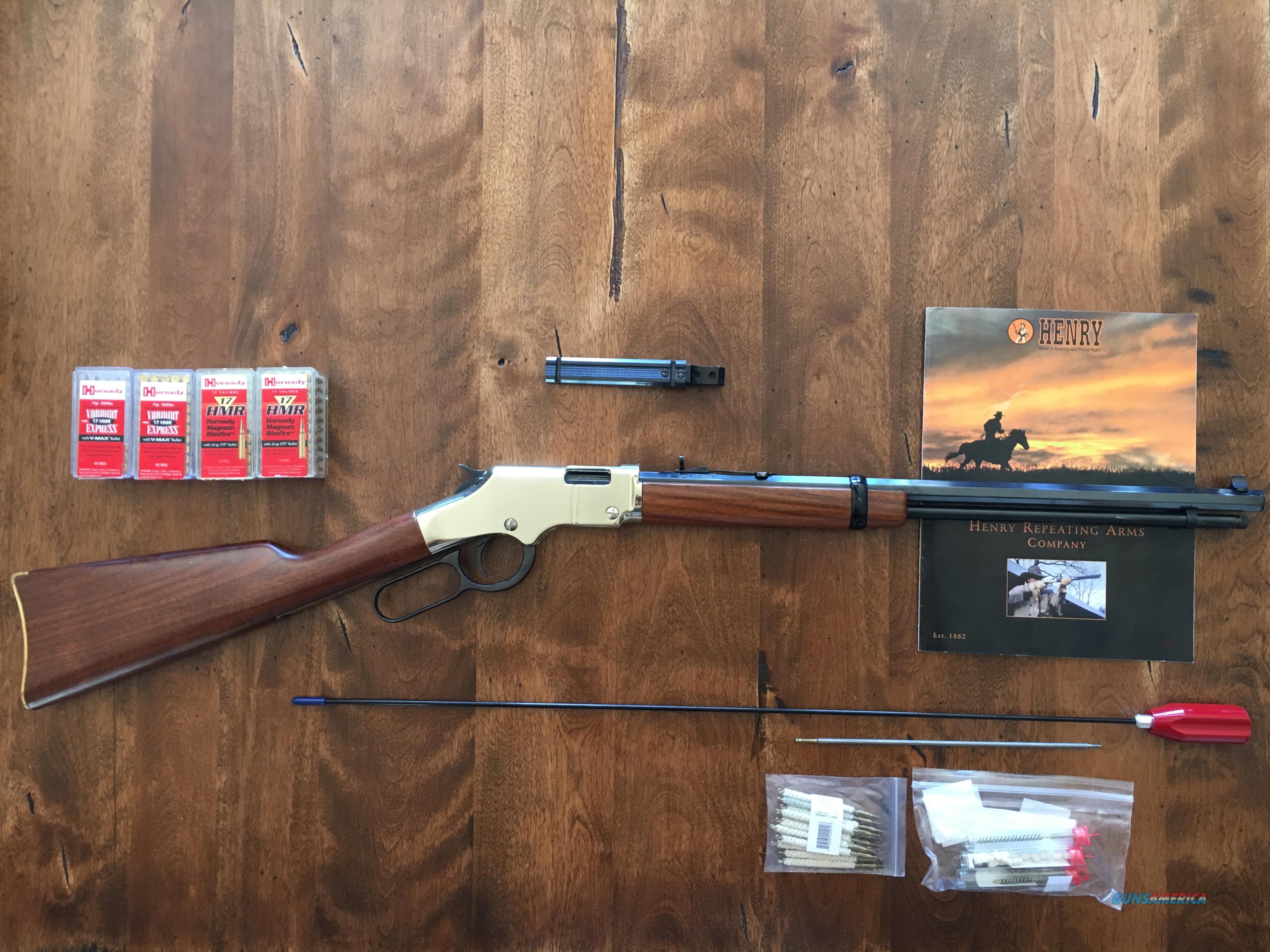 Henry Golden Boy .17HMR rimfire, octagon barrel.  Guns > Rifles > Henry Rifle Company