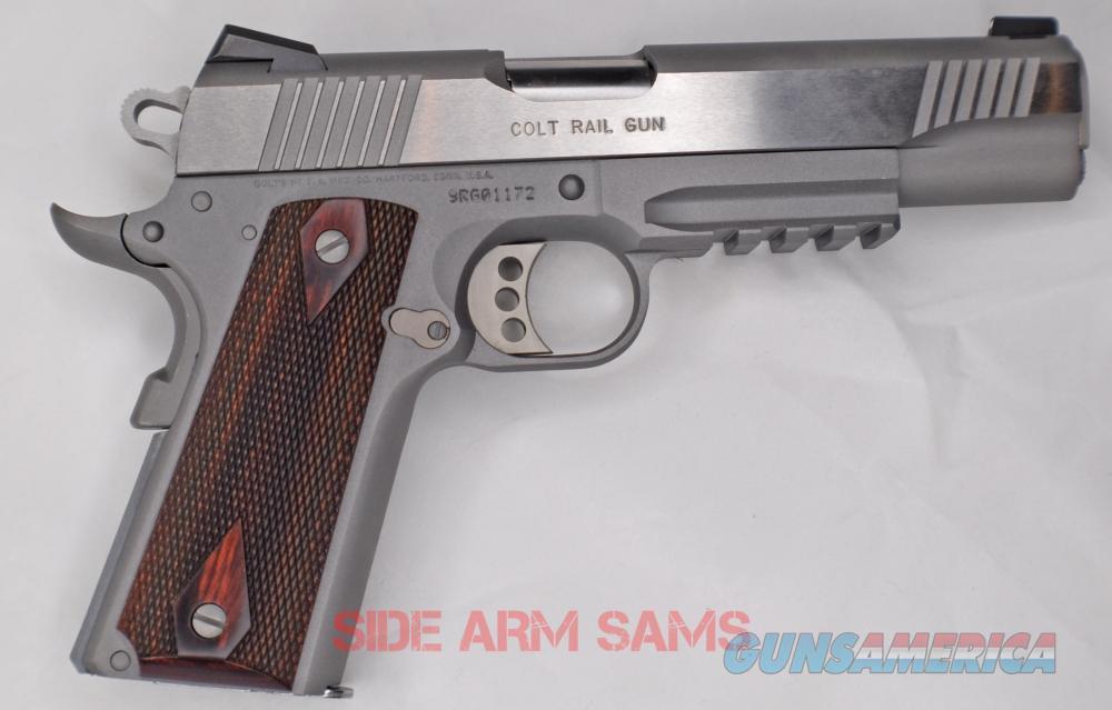 NIB Colt Goverment Model 9mm S/S & Rosew00d Factory Rail Gun  Guns > Pistols > Colt Automatic Pistols (1911 & Var)
