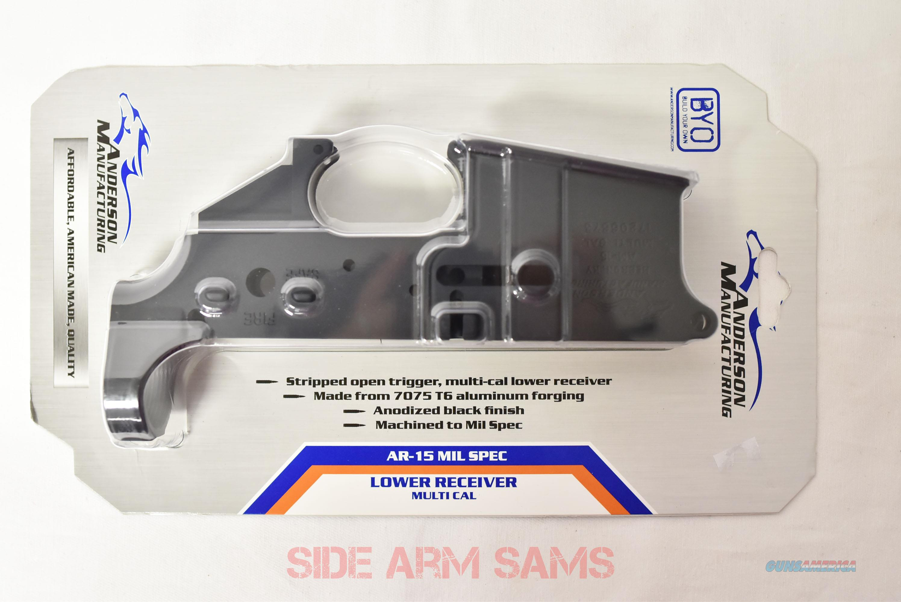 NIB(3)Pack  Anderson AR-15 Multi-Cal Mil-Spec Stripped Lower  Guns > Rifles > AR-15 Rifles - Small Manufacturers > Lower Only