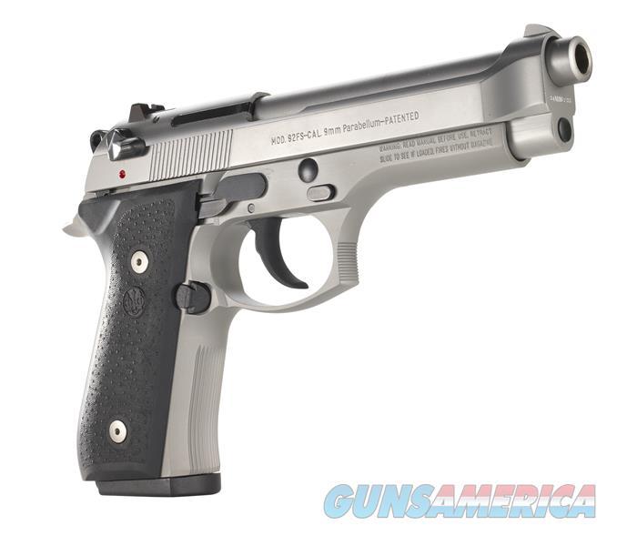 """NIB BERETTA 92FS """"INOX"""" STAINLESS-STEEL 9MM SEAUTO PISTOL  Guns > Pistols > Beretta Pistols > Model 92 Series"""