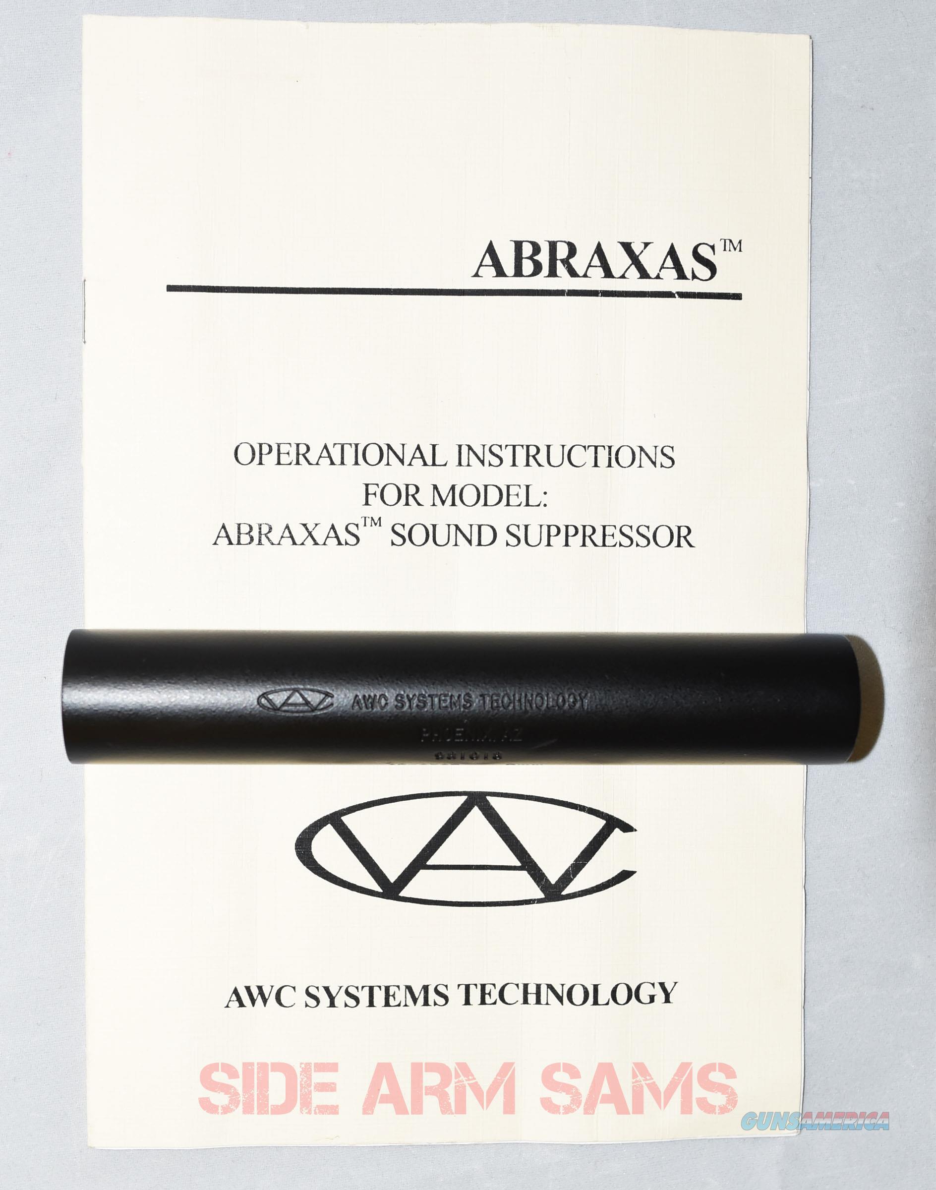 "Used/VG AWC ""Abraxas"" 9mm  Pistol Suppressor  Non-Guns > Gun Parts > Military - American"