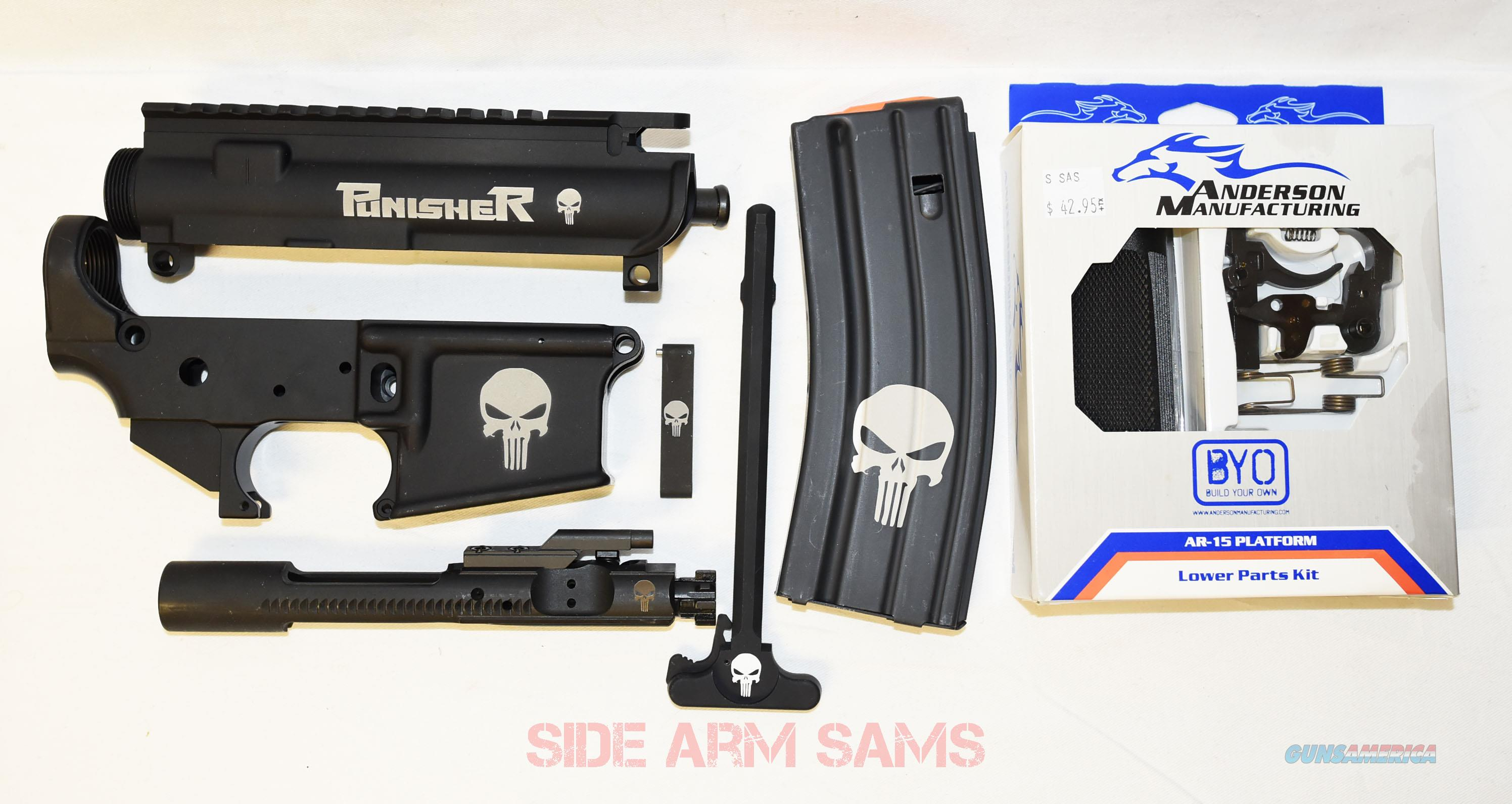 """NIB Anderson AM-15 Mil-Spec  """"Punisher Logo"""" AR-15 Build Kit  Guns > Rifles > AR-15 Rifles - Small Manufacturers > Lower Only"""