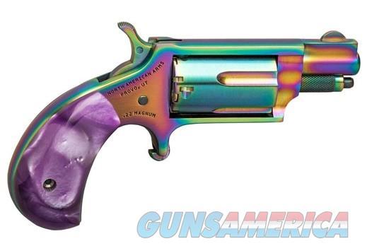 "NIB NORTH AMERICAN RAINBOW & PERLITE GRIPS, NAA 22WMR 1-1/8"" BARREL  Guns > Pistols > North American Arms Pistols"