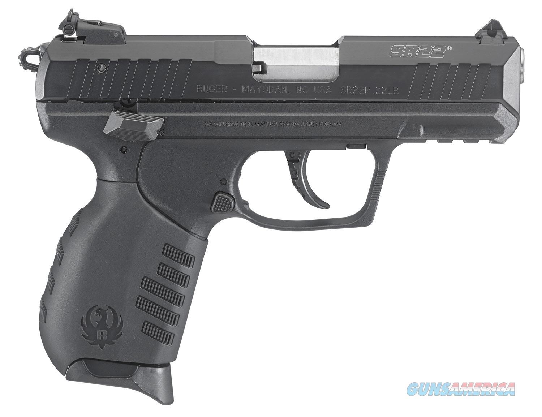NIB Ruger SR-22, 22LR Semi-Auto Pistol,Black/Black  Guns > Pistols > Ruger Semi-Auto Pistols > SR Family > SR22