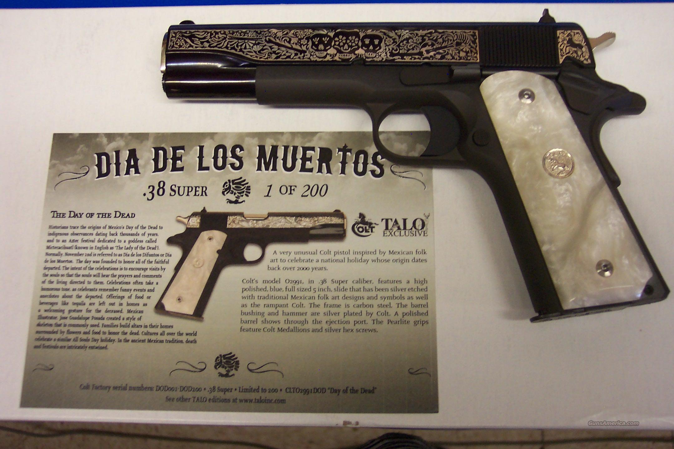 Colt 38 Super Quot Dia De Los Muertos Quot Day Of The For Sale