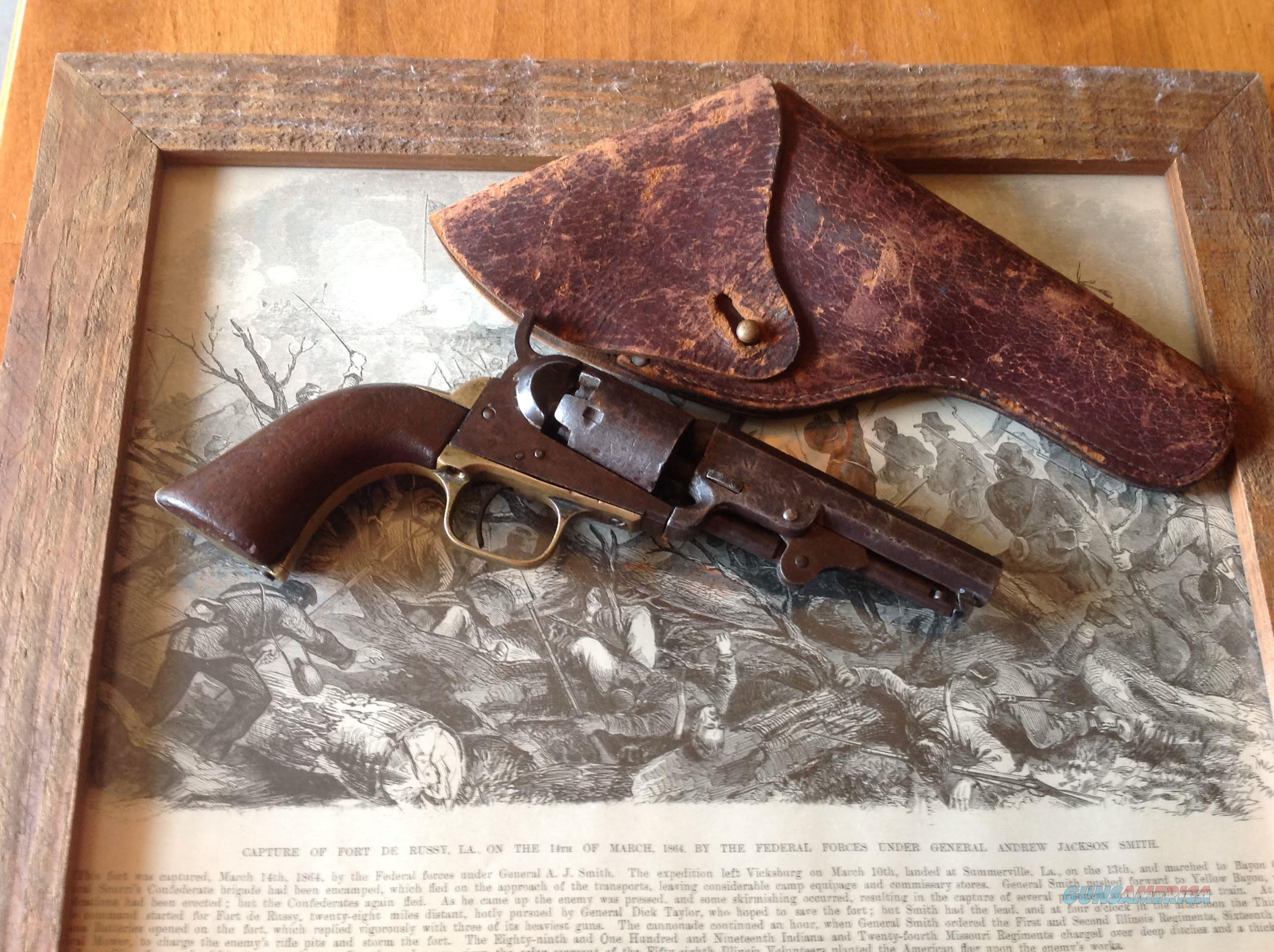 Colt Model 1849 (matching numbers) 31 cal Pocket pistol with holster  Guns > Pistols > Colt Percussion Revolver - Pre-1899