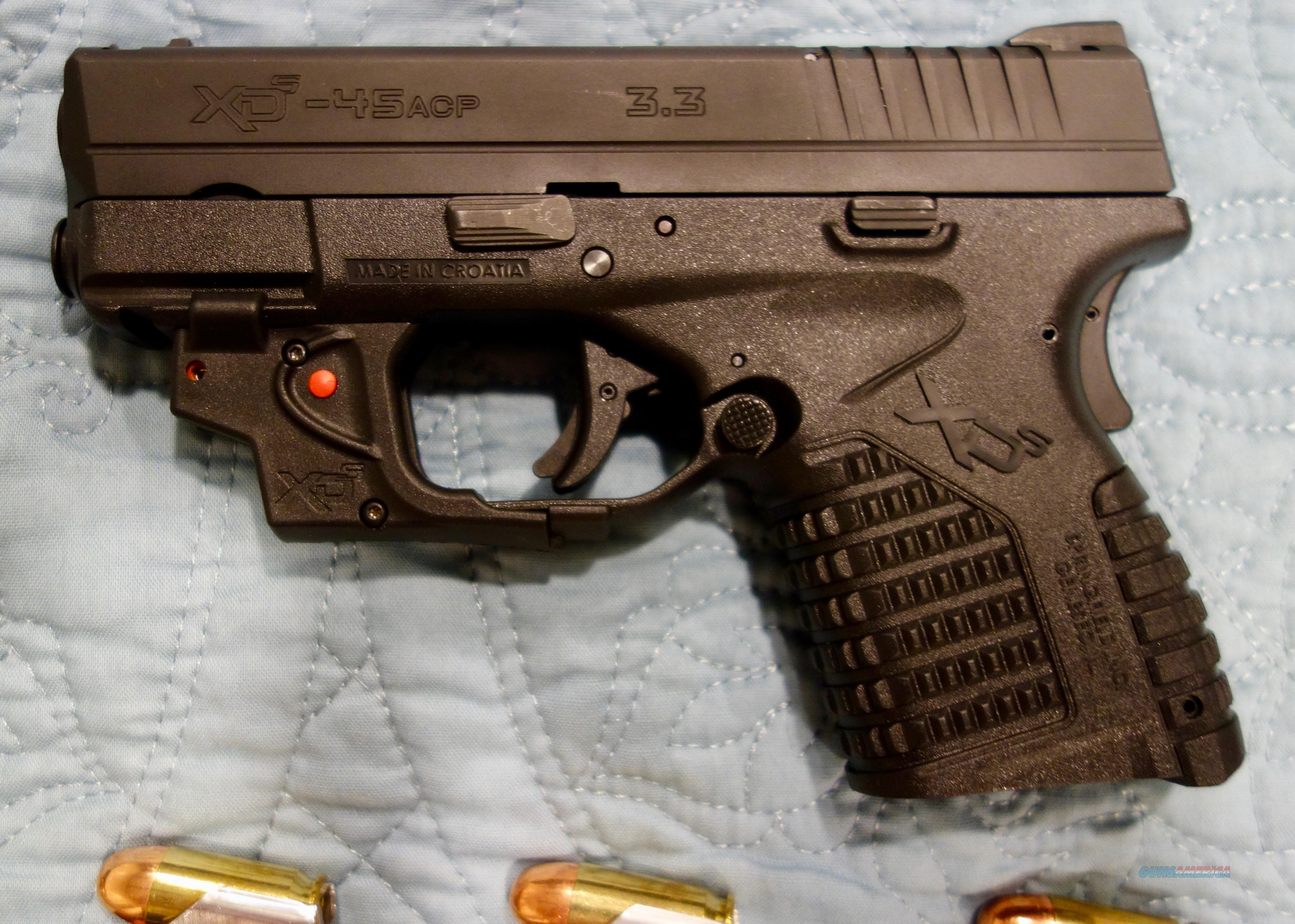 Springfield Armory XD-s 3.3 .45 Cal & accessories  Guns > Pistols > Springfield Armory Pistols > XD-S